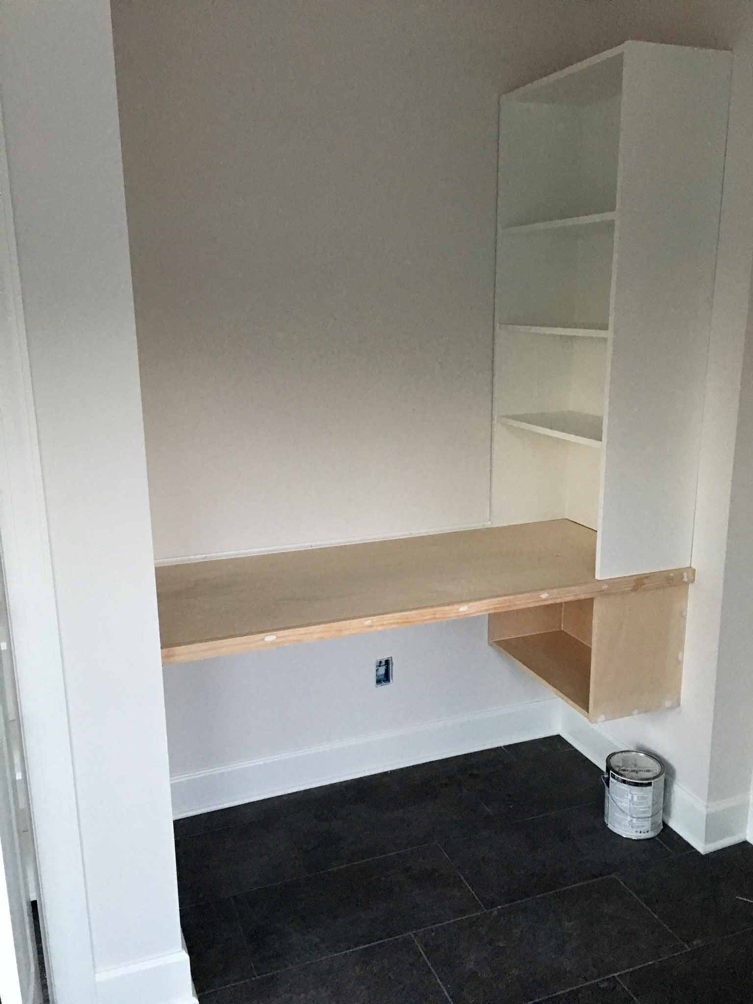 Custom Built-in Desk And Shelves - That Homebird Life