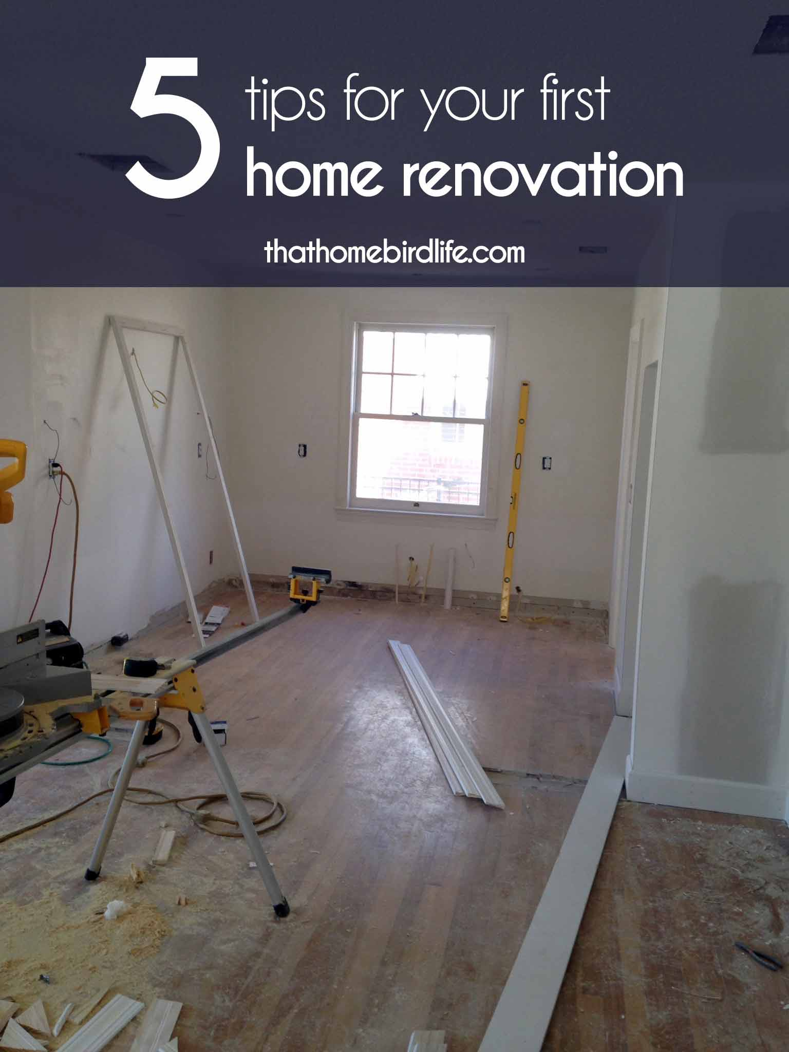 Everyone's renovation experience will look slightly different, depending on the extent of work, personal DIY skills, budget and location. Here are 5 tips for your first home renovation that I think apply to most projects, big or small.