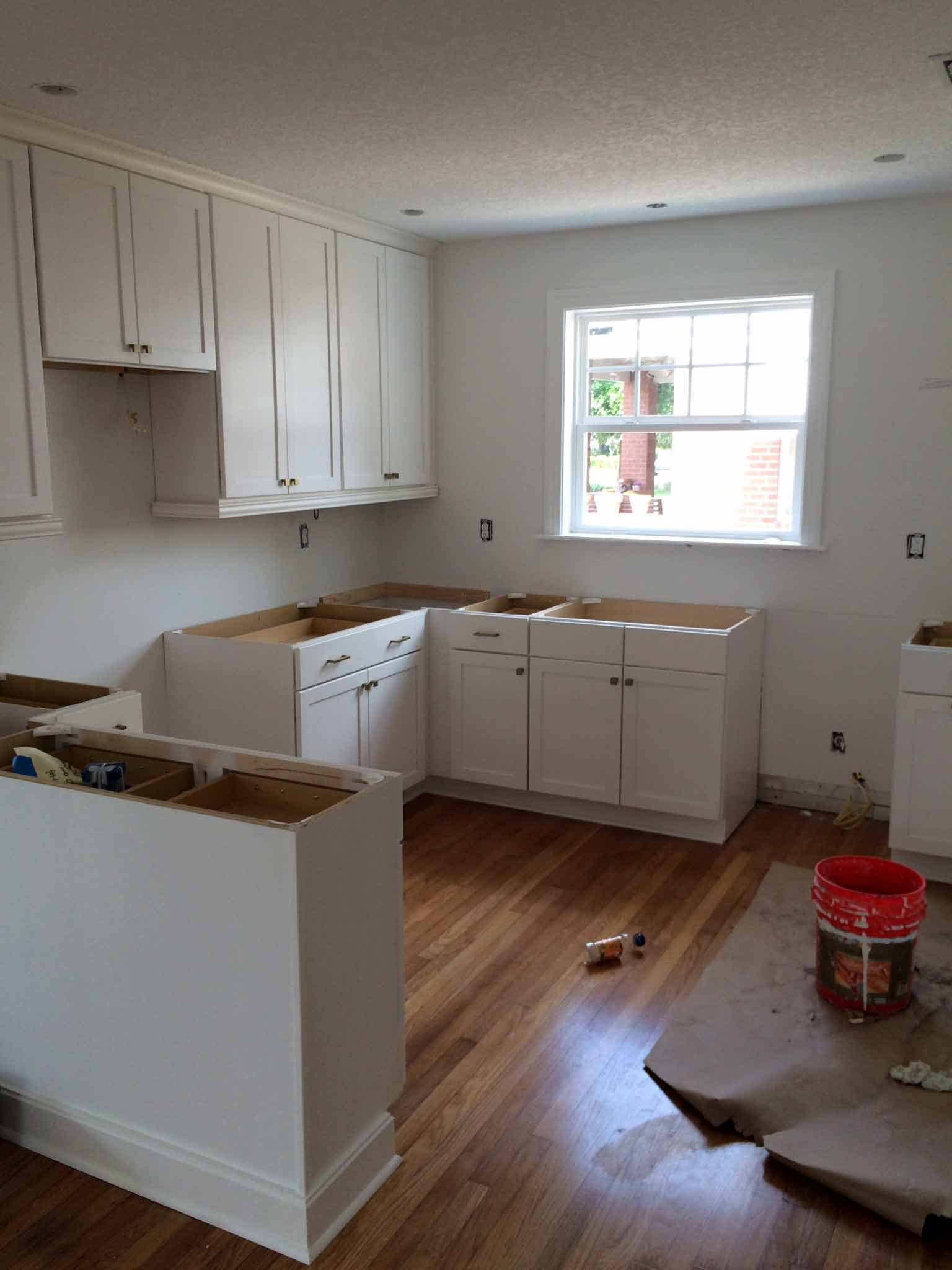 Kitchen Cabinetry Being Installed - That Homebird Life