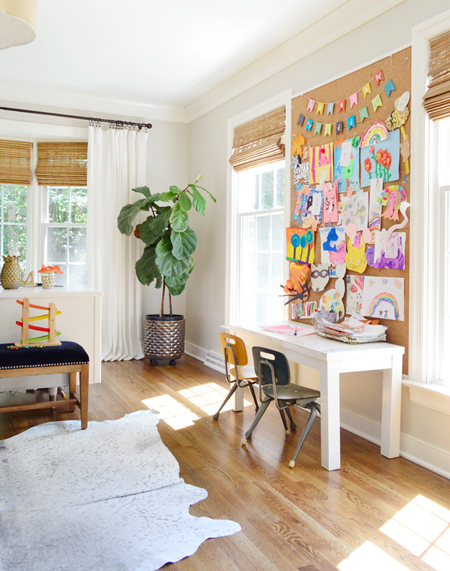 Kids artwork display inspiration - 4 simple steps to keeping your kids' artwork organized - That Homebird Life Blog