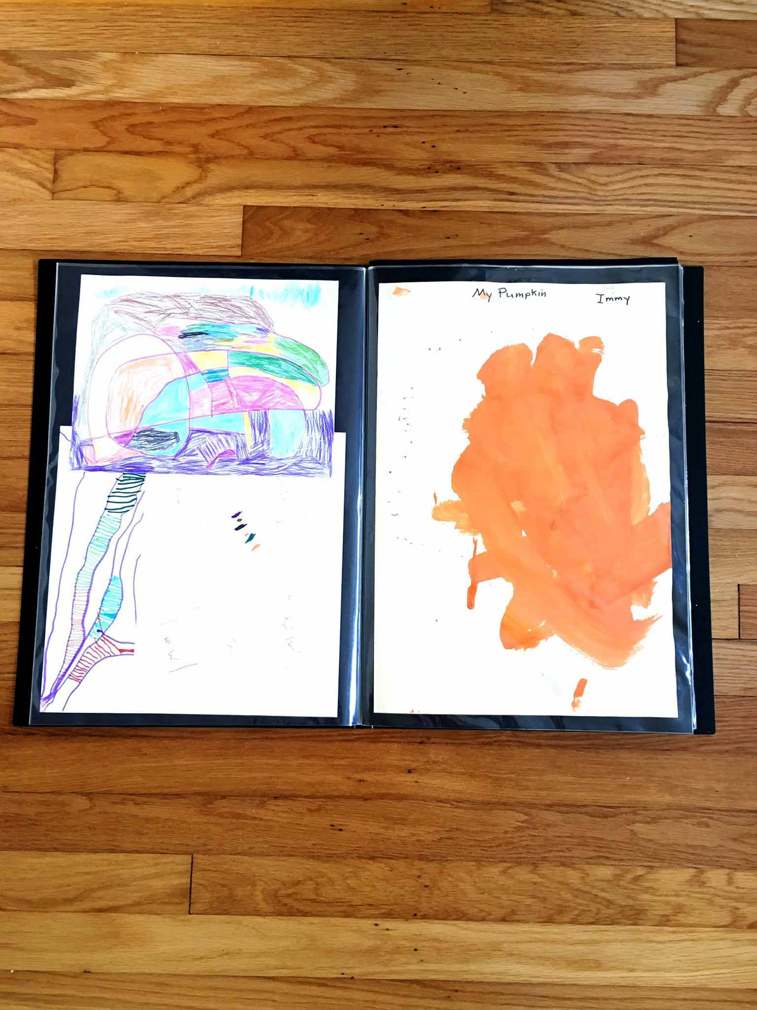 Art portfolio - 4 simple steps to keeping your kids' artwork organized - That Homebird Life Blog