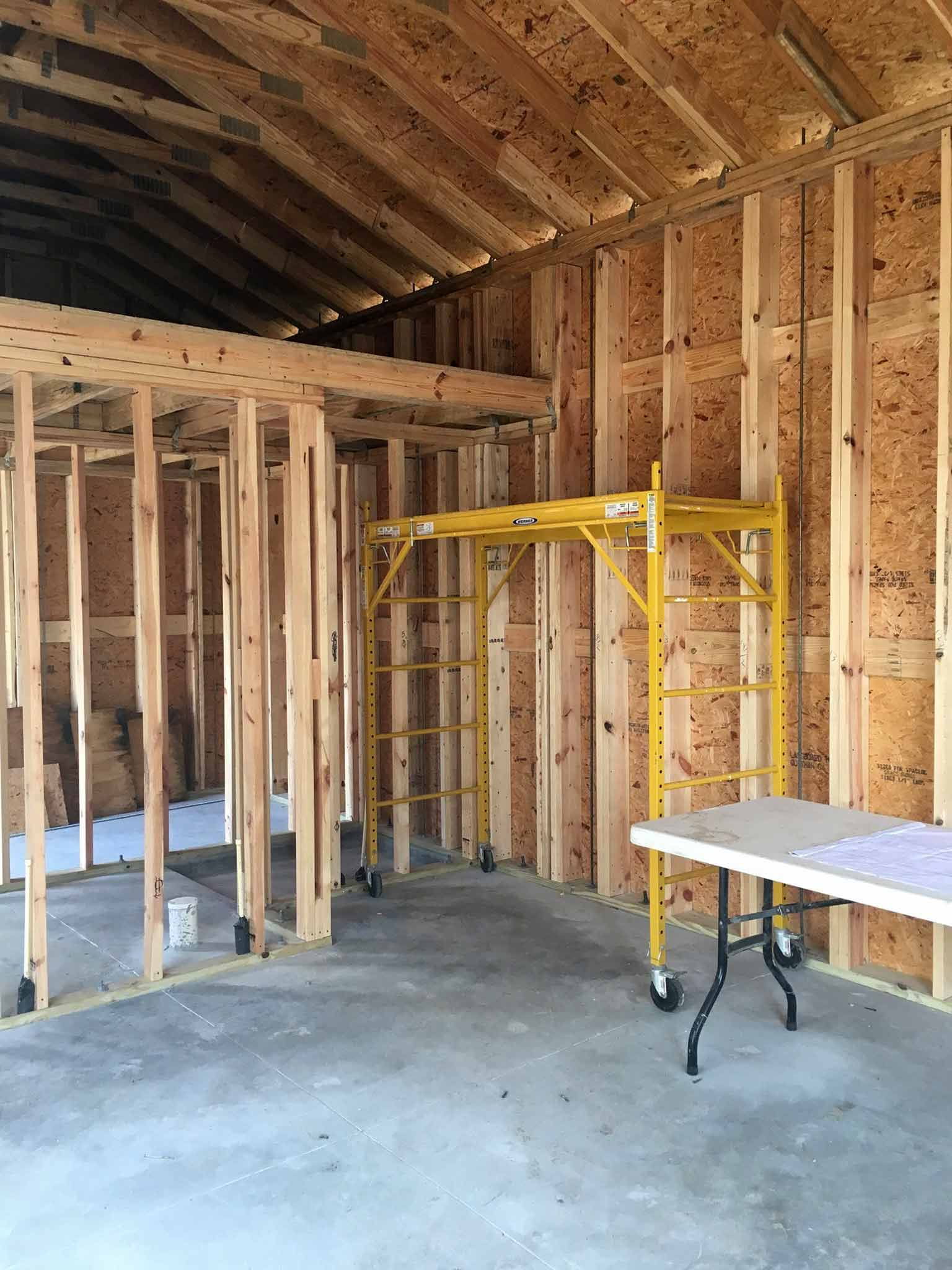 Kitchenette nook - guest house construction progress - That Homebird Life Blog