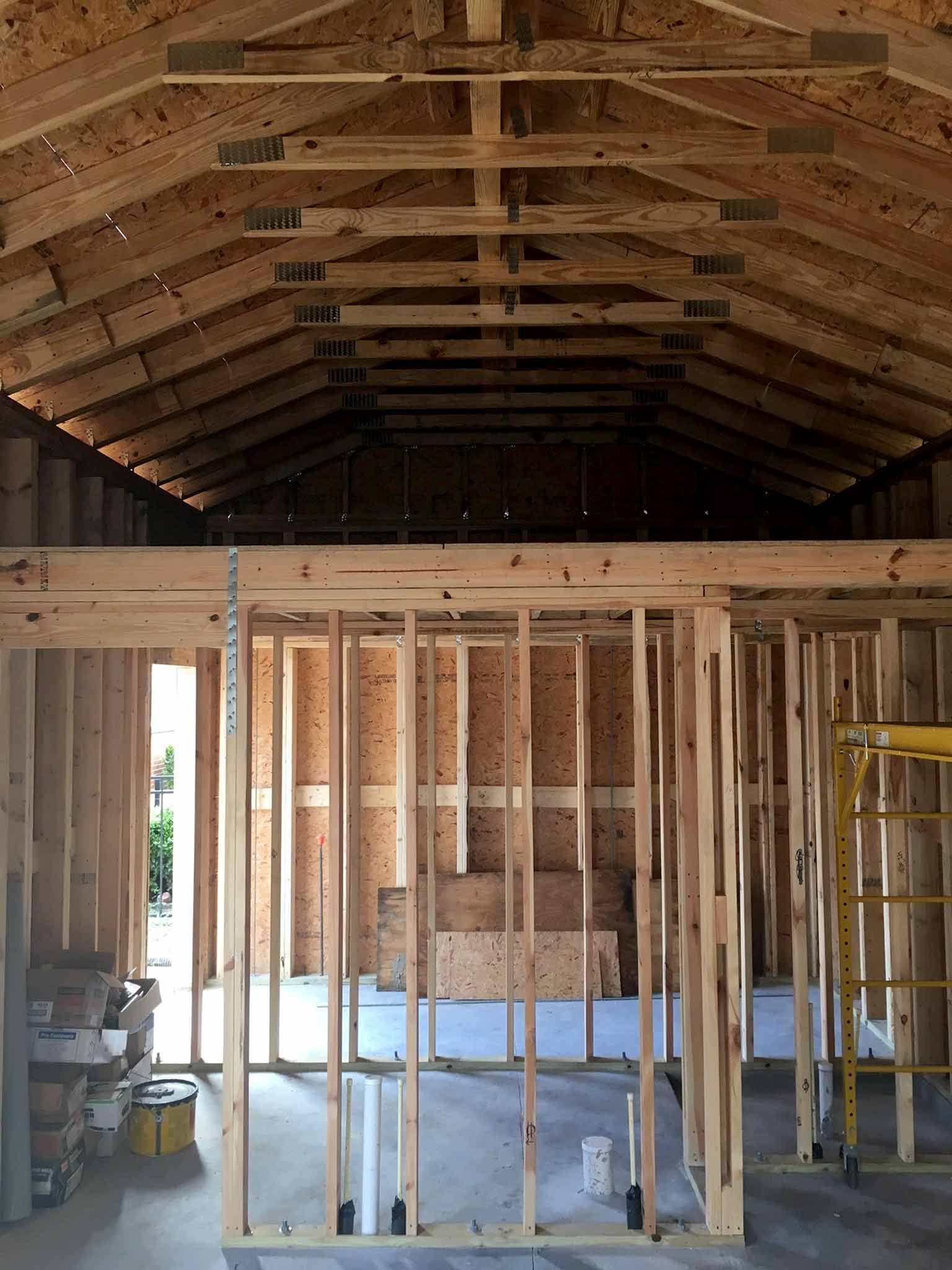 Loft - guest house construction progress - That Homebird Life Blog