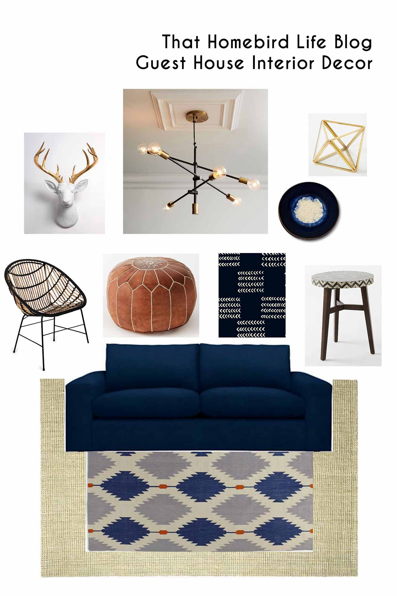 Guest house interior decor moodboard inspiration - That Homebird Life Blog