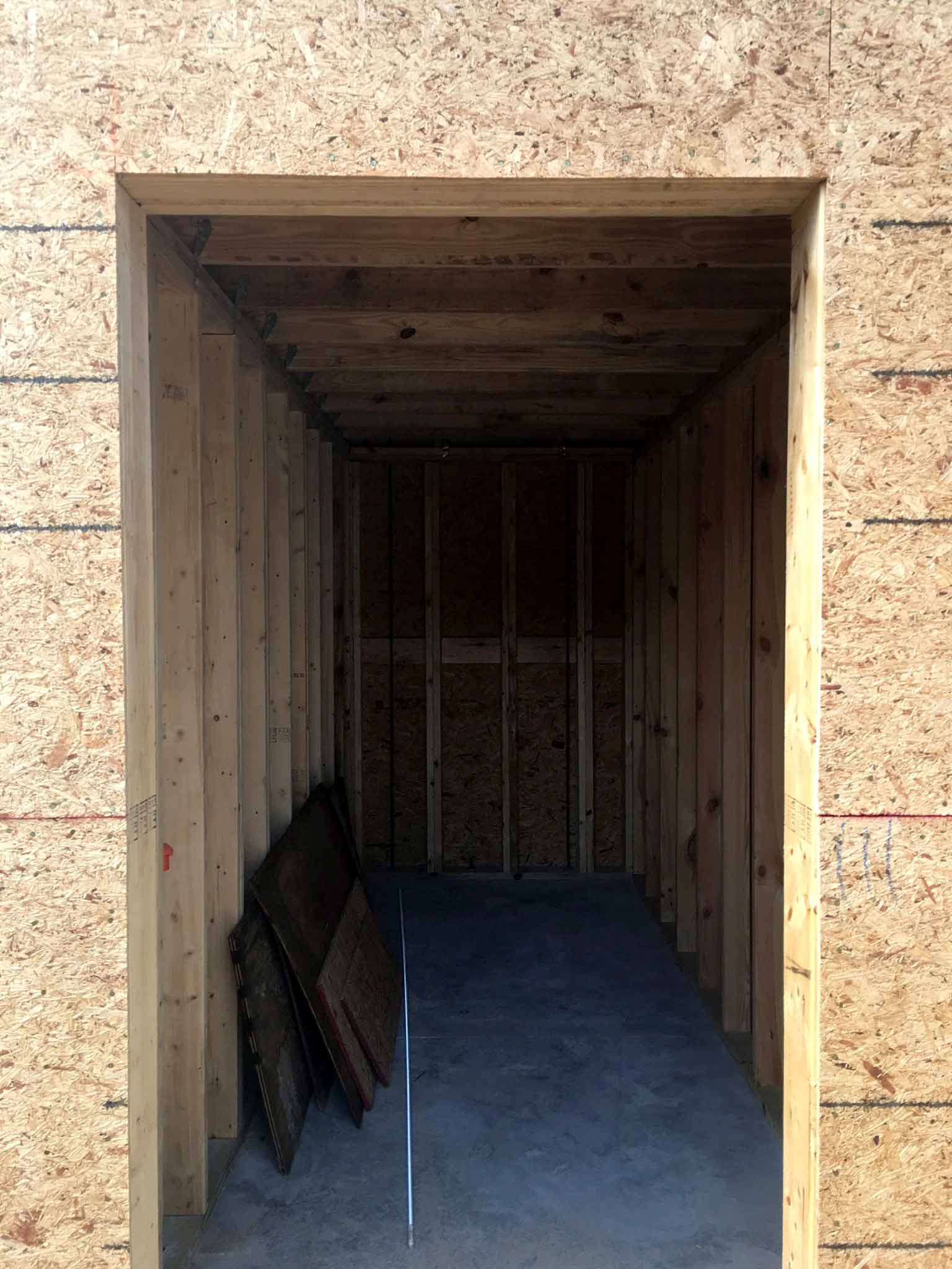 Storage room - guest house construction progress - That Homebird Life Blog