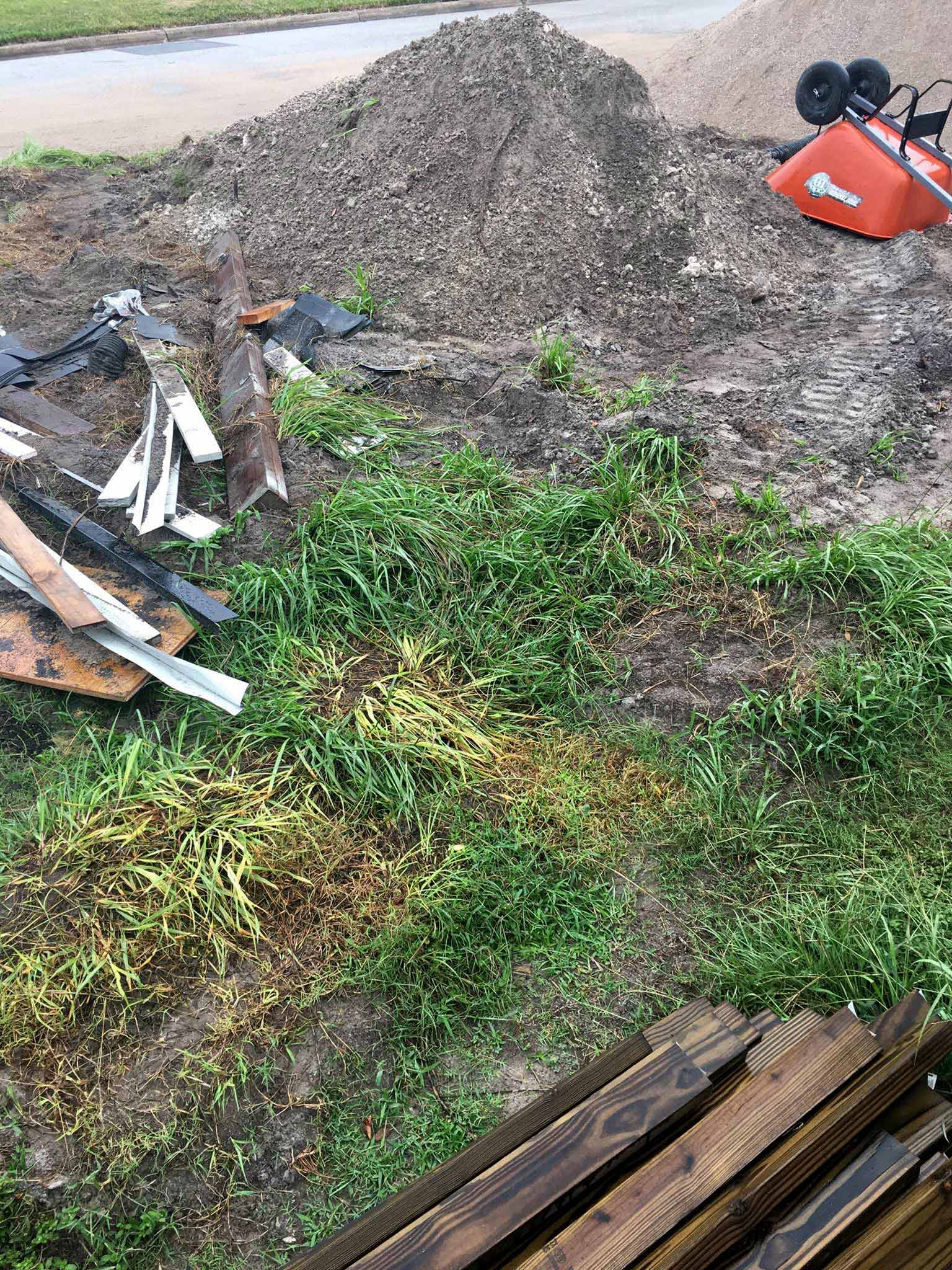 Our current front yard mess - That Homebird Life Blog