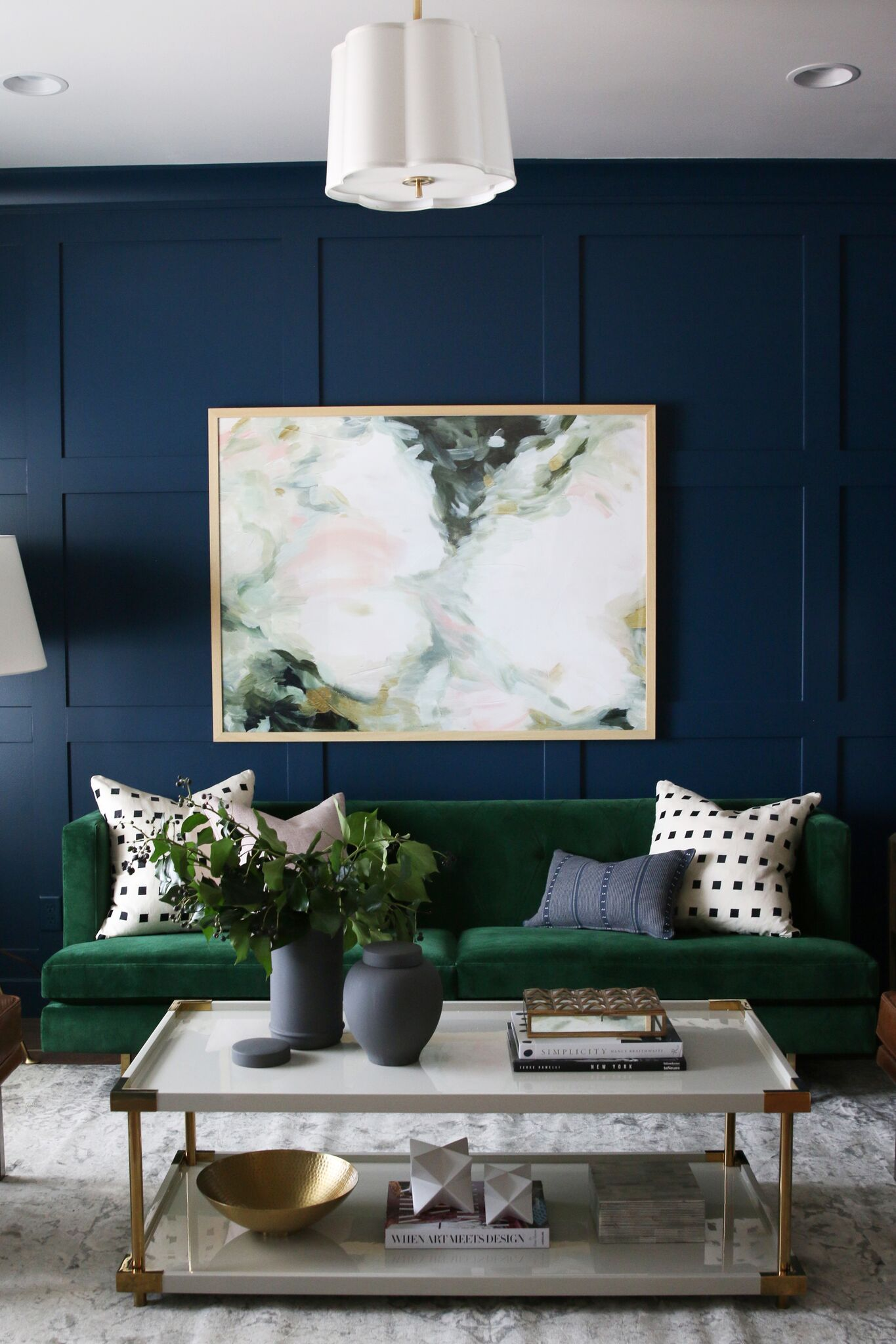Dark blue modern paneling - inspiration for our guest house - That Homebird Life Blog