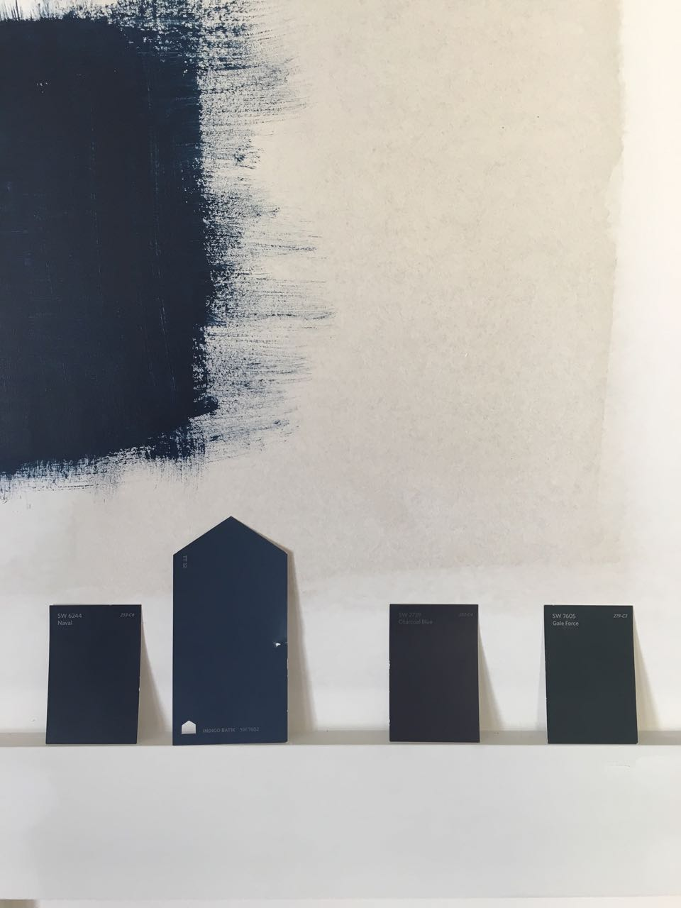 Choosing the right navy paint - navy paint swatches - That Homebird Life Blog