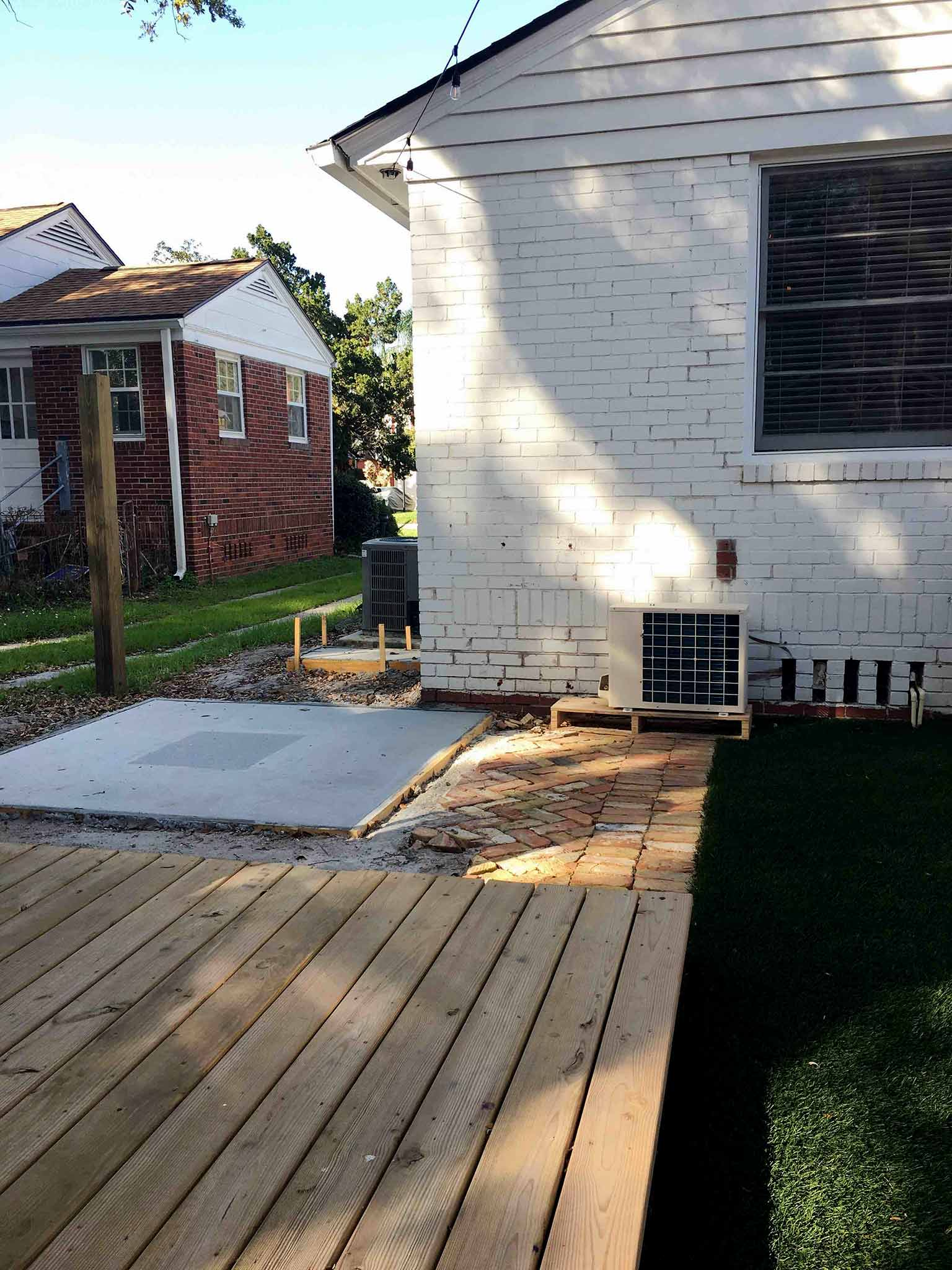 Space for the hot tub - How we planned our backyard space - That Homebird Life Blog