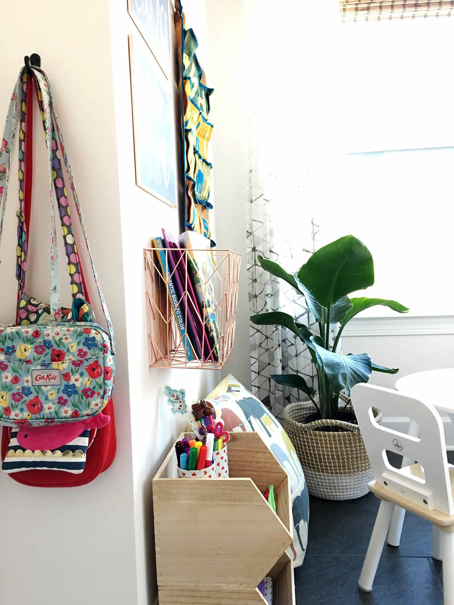 Kids art and craft storage - playroom house tour - That Homebird Life Blog