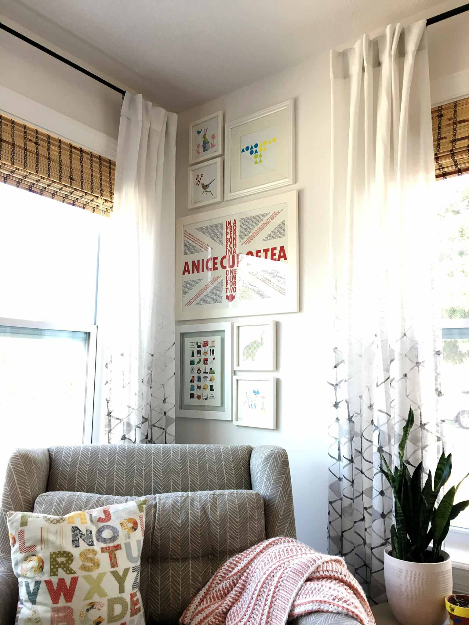 Gallery wall - playroom house tour - That Homebird Life Blog