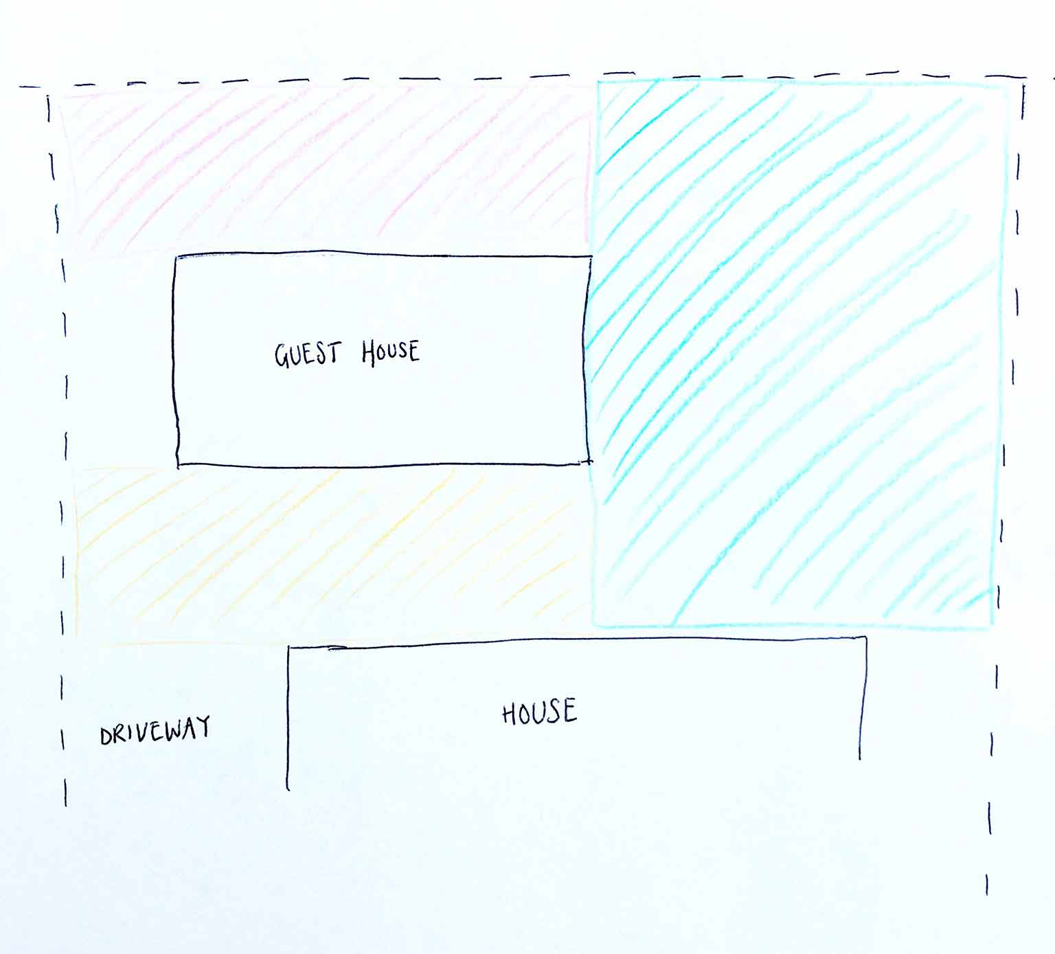 Diagram of our backyard layout - How we planned our backyard space - That Homebird Life Blog