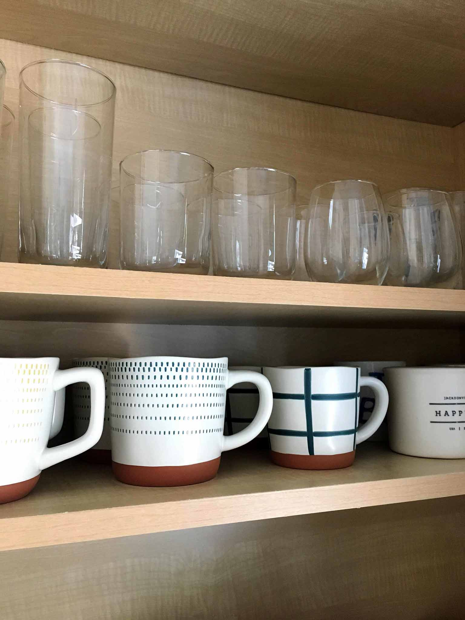 Target Hearth and Hand Stoneware Mugs with Project 62 Glassware - That Homebird Life Blog