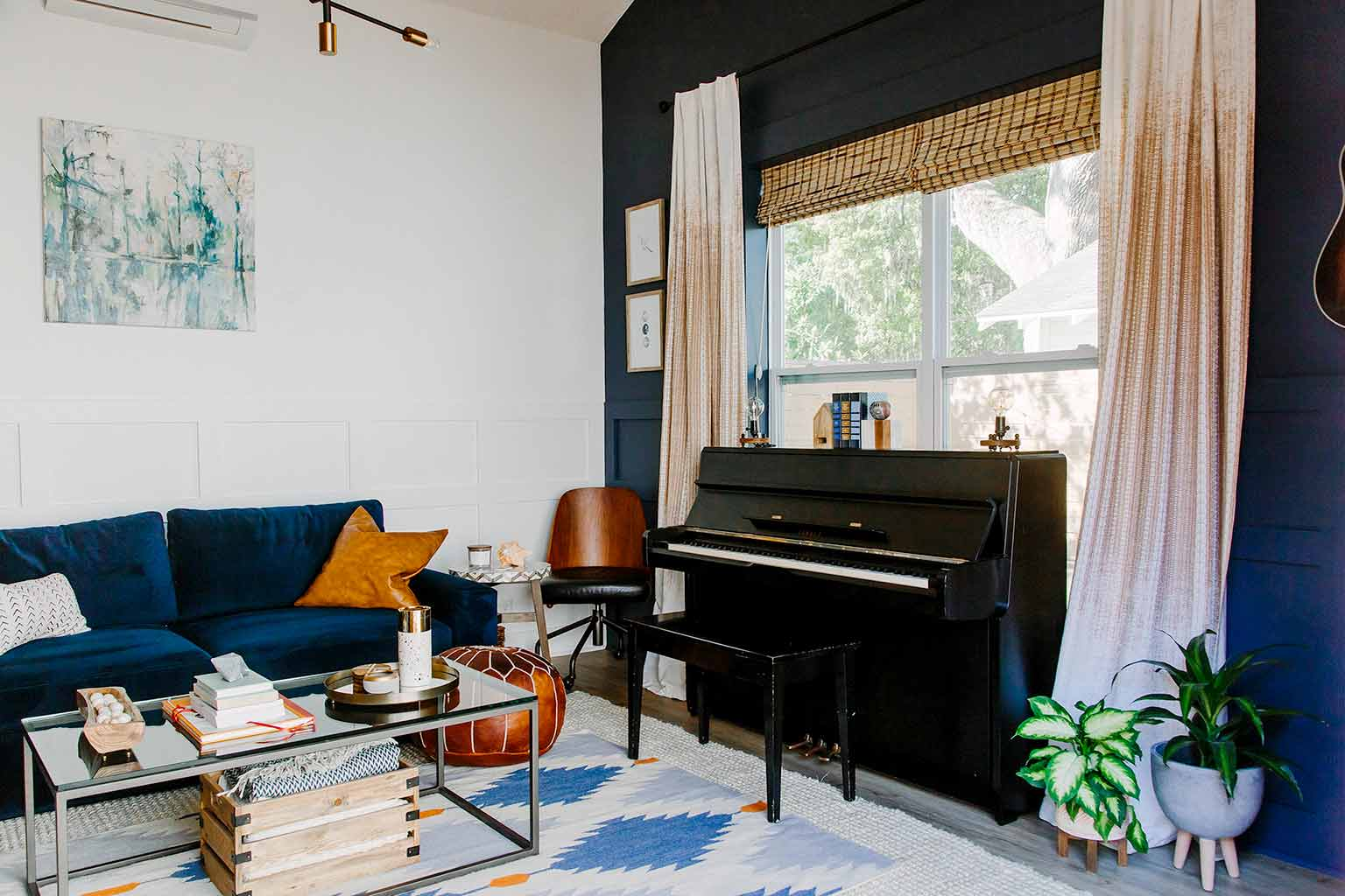 Mid-century modern guest house with a boho/eclectic twist - The Guest House Reveal - That Homebird Life Blog