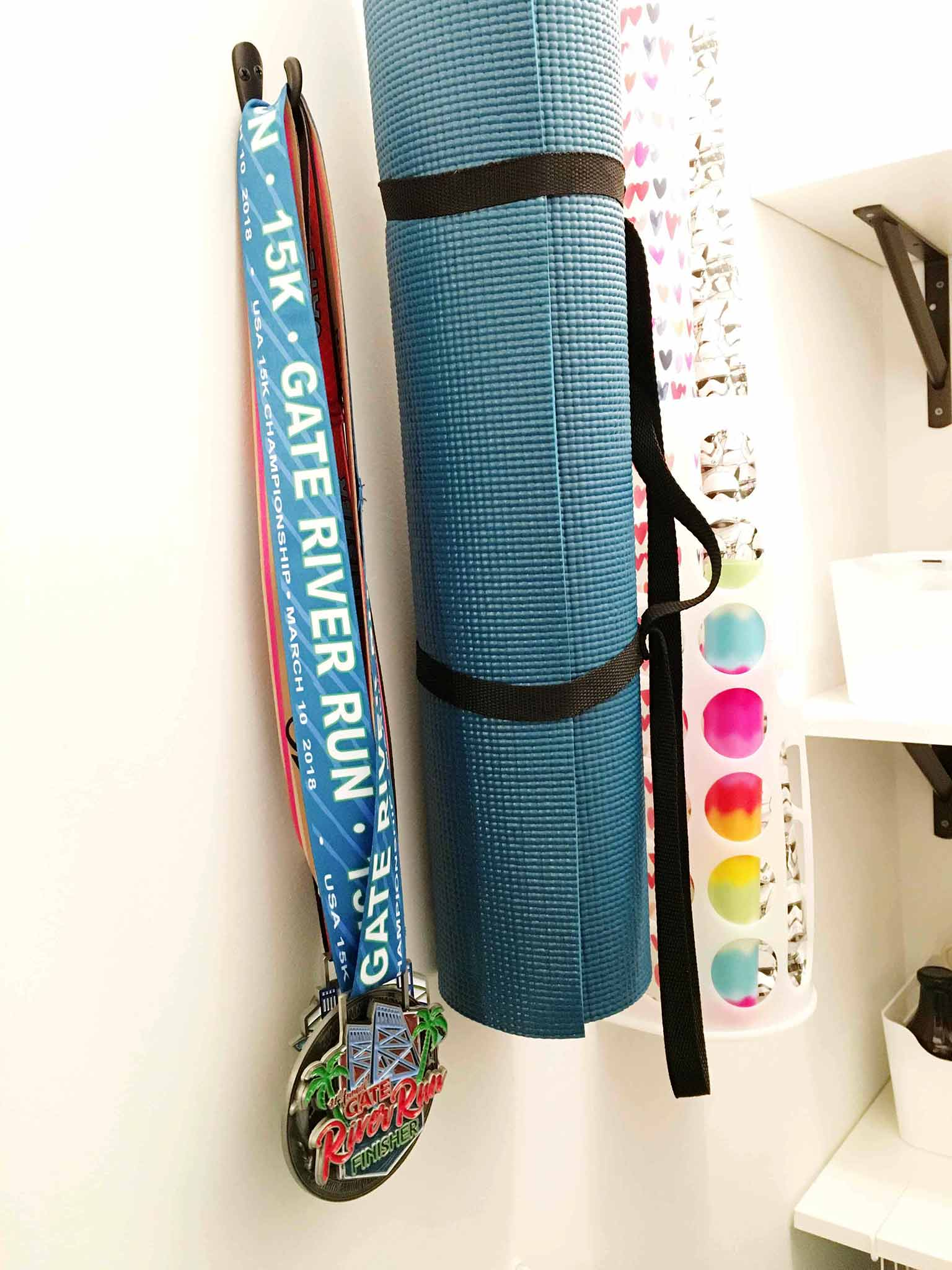 Exercise mat and race medals - That Homebird Life Blog
