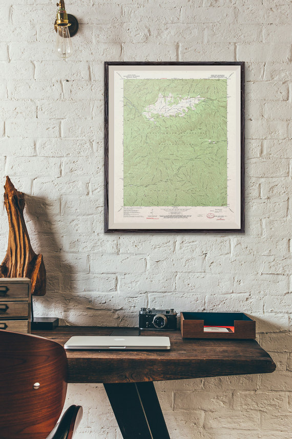 Master Bedroom Etsy Finds Vintage National Park Map - The One Room Challenge - That Homebird Life Blog