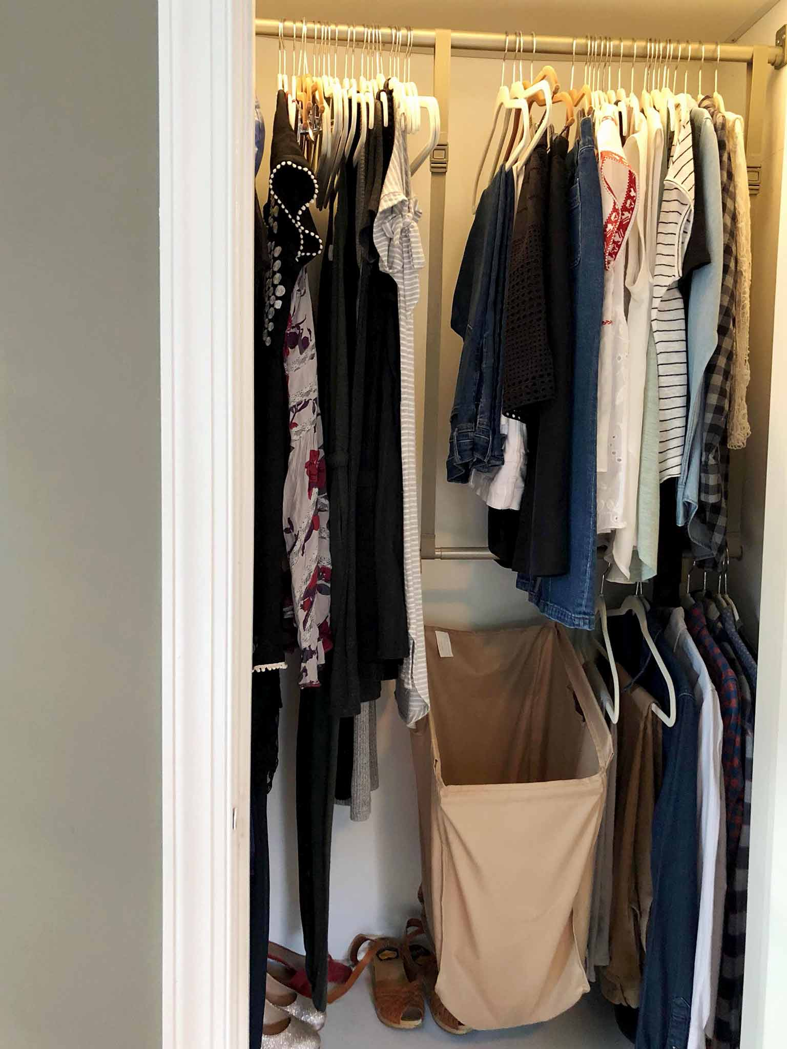 Master Bedroom Progress Konmari Clothing - The One Room Challenge - That Homebird Life Blog