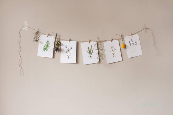 Master Bedroom Etsy Finds Botanical Watercolors - The One Room Challenge - That Homebird Life Blog