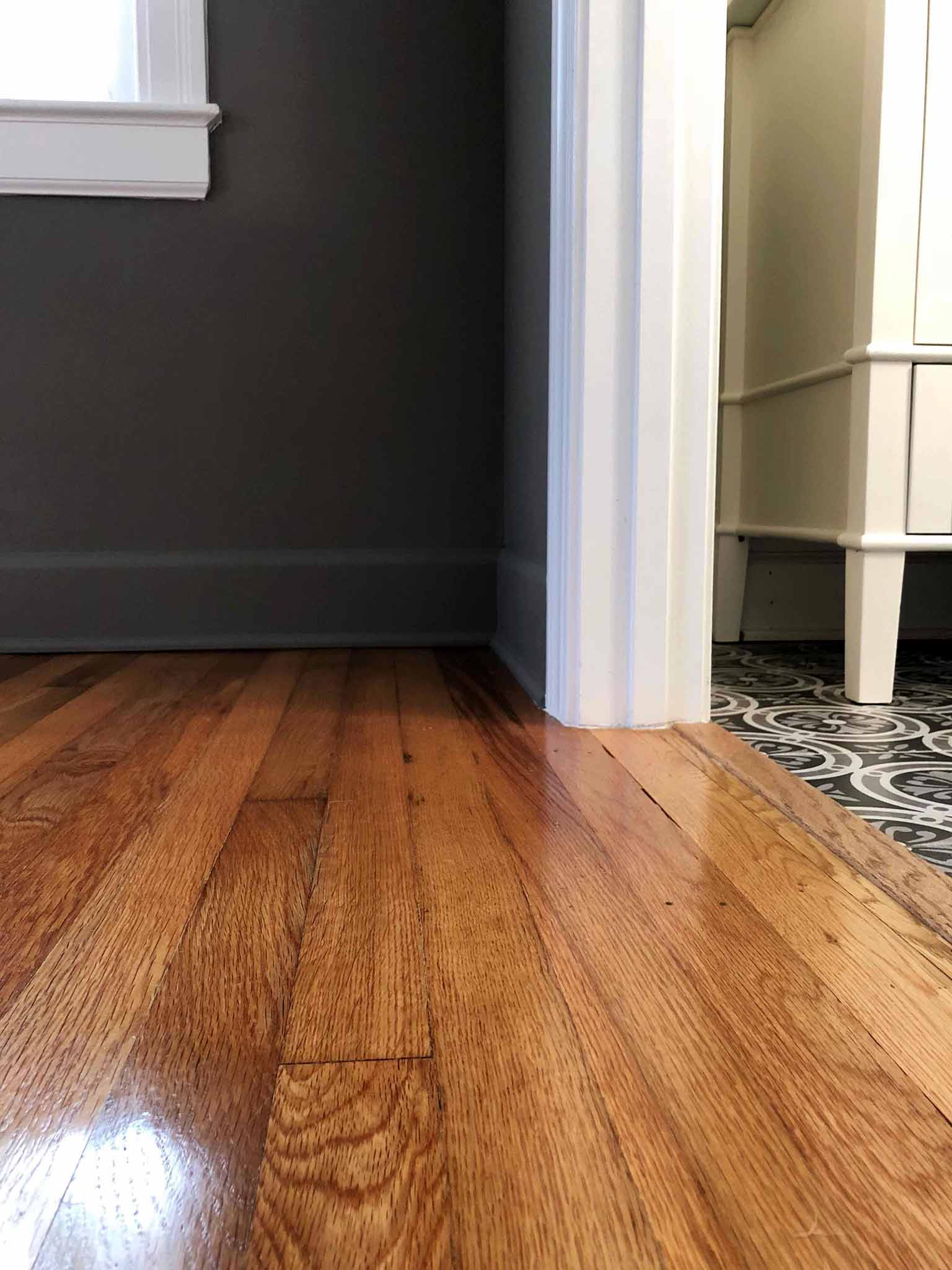 Master Bedroom Progress Painting Baseboards - The One Room Challenge - That Homebird Life Blog