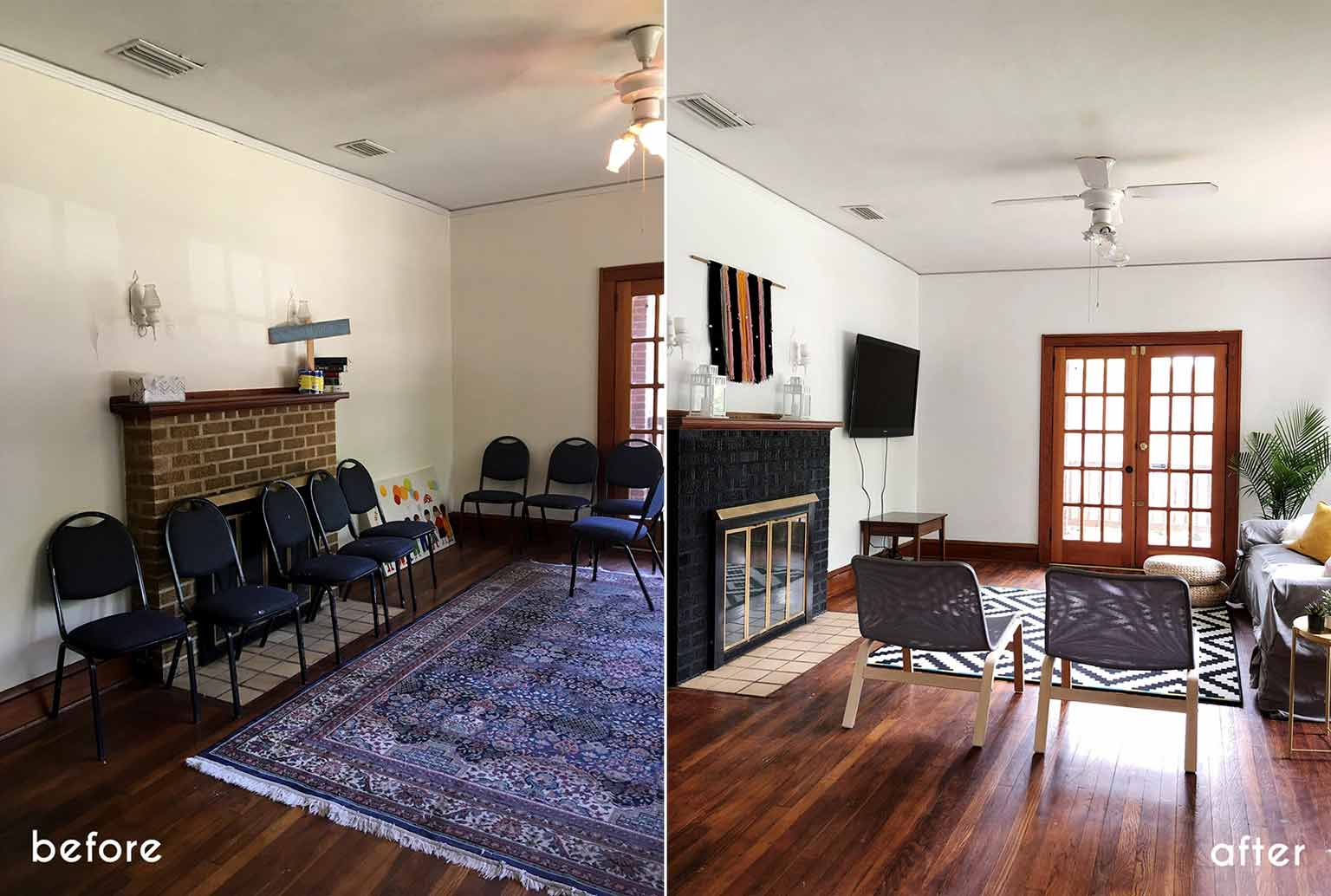 Before and after - Modern minimalist room makeover on a budget - That Homebird Life Blog