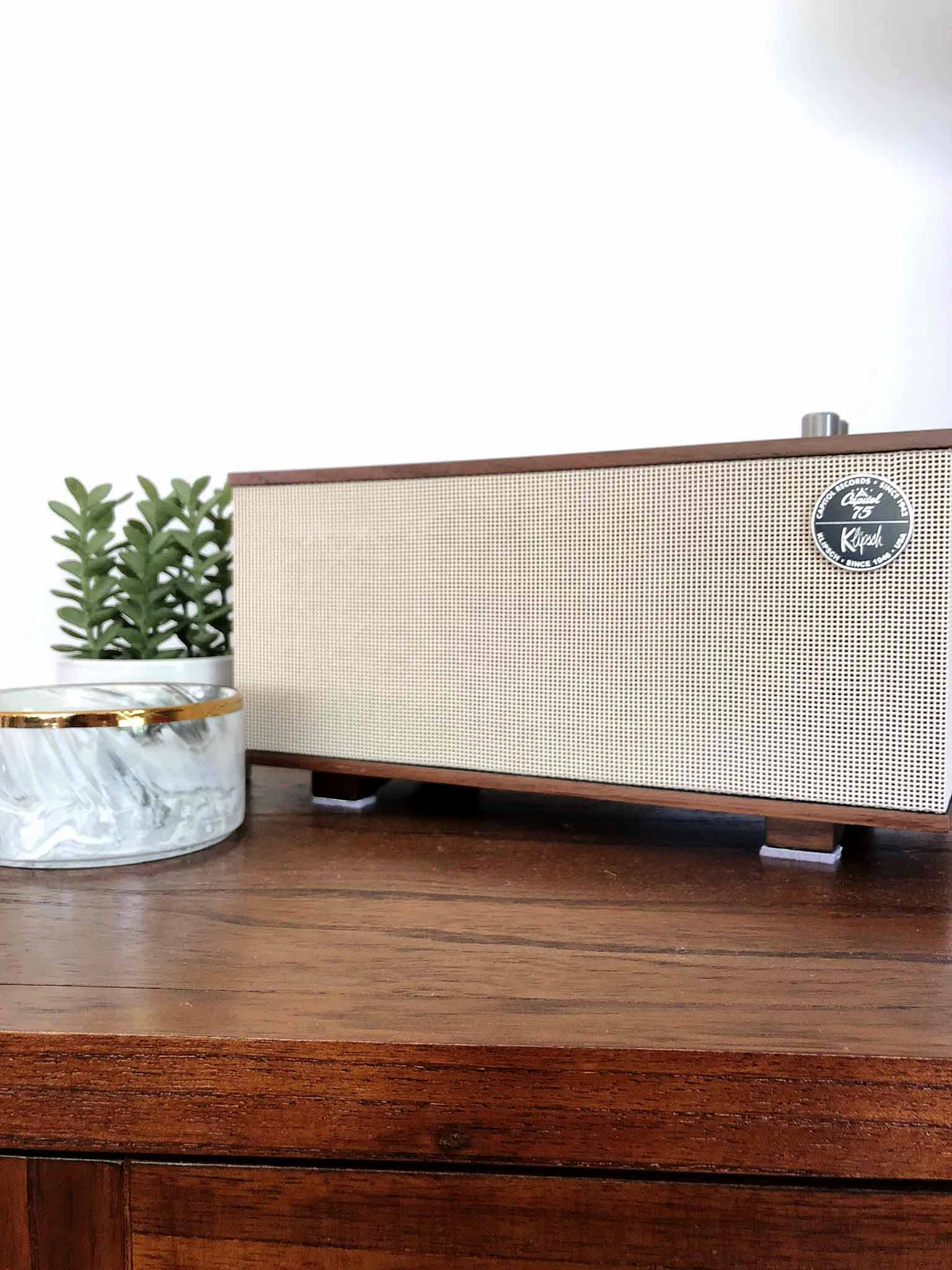 Klipsch The Capitol One Bluetooth Tabletop Speaker That Homebird Life Blog
