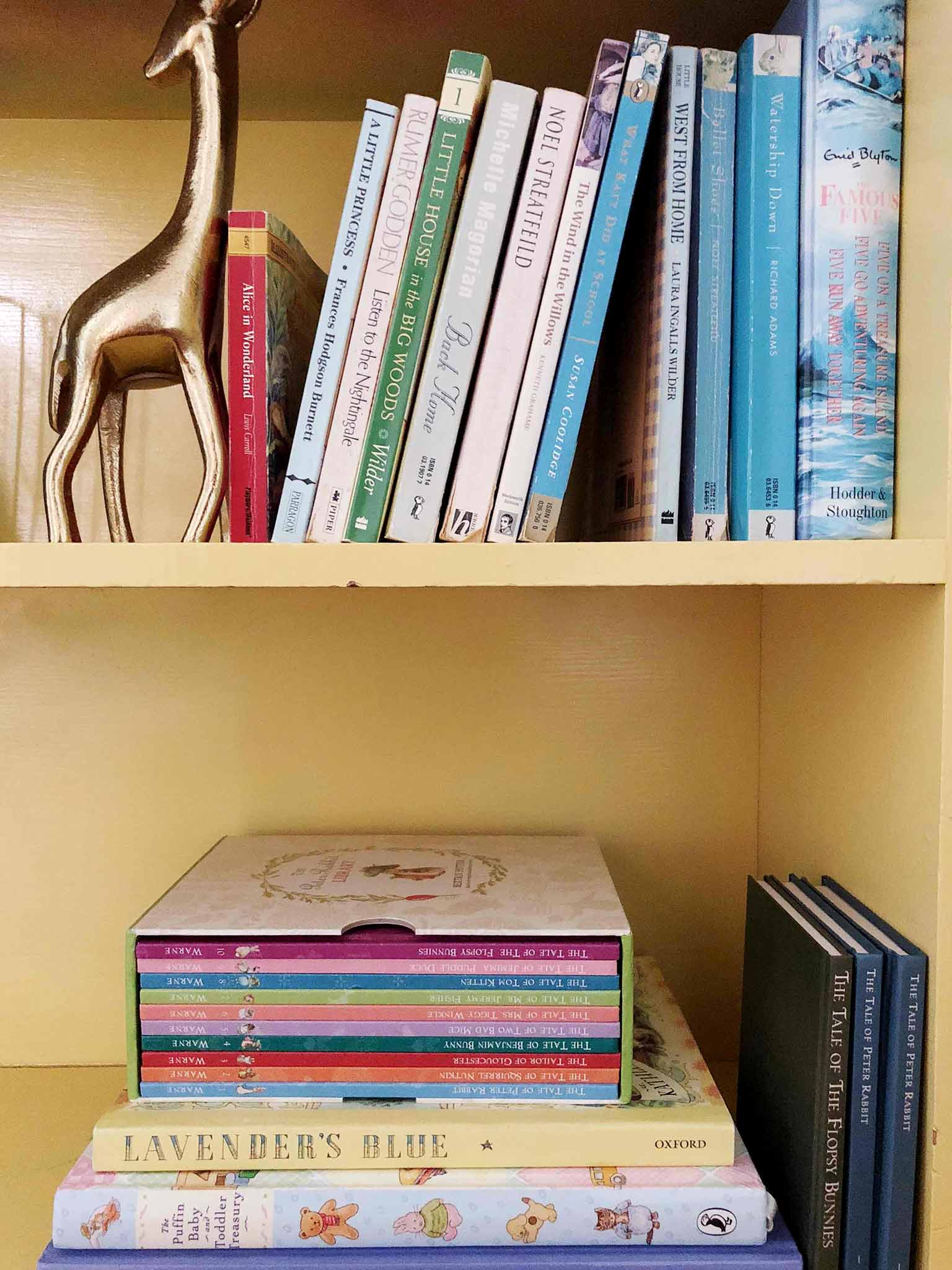 Book shelf styling - How to Declutter, Organize and Style Kids' Books - That Homebird Life Blog