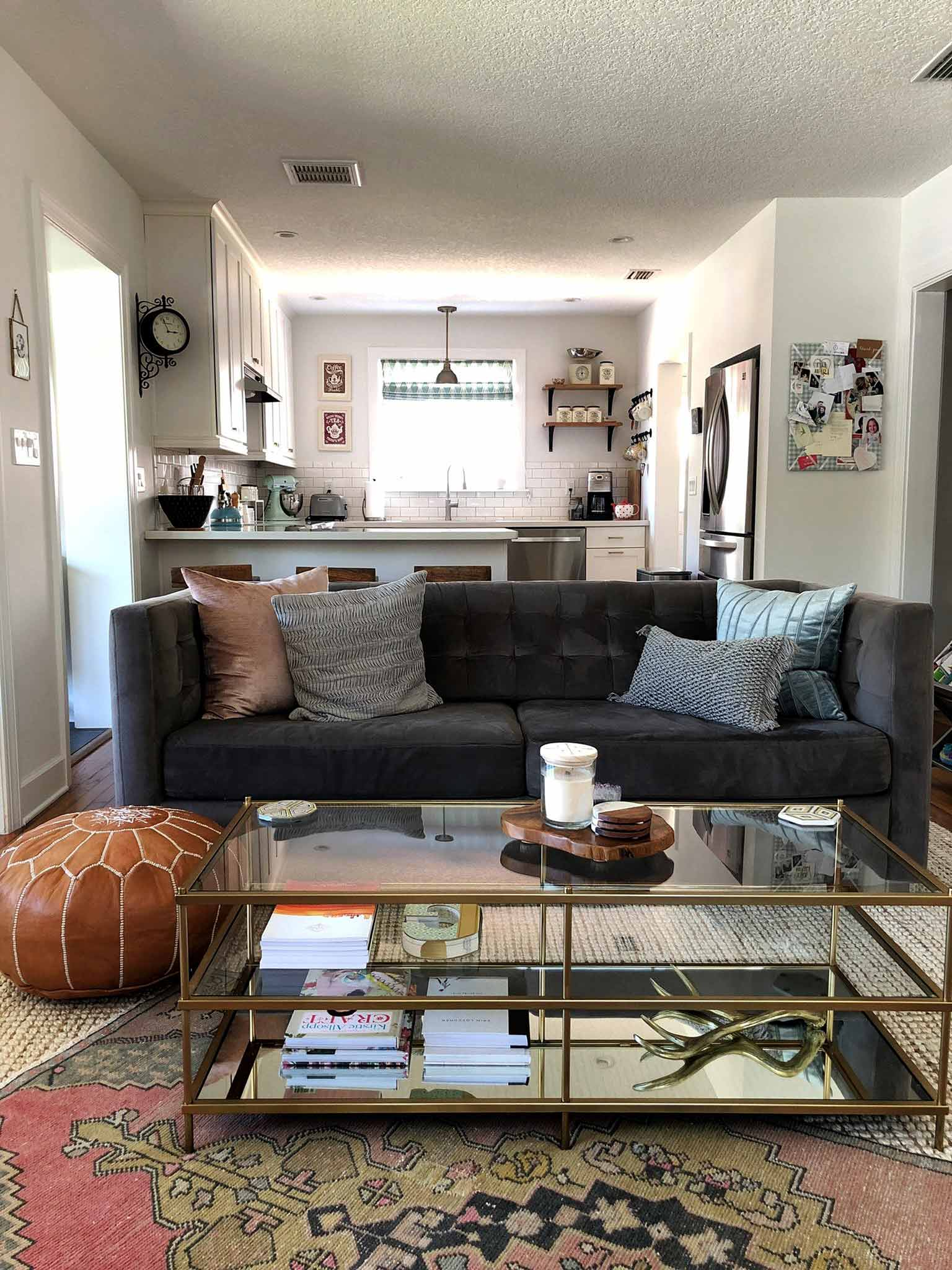 Layered and cozy living room - progress - That Homebird Life Blog