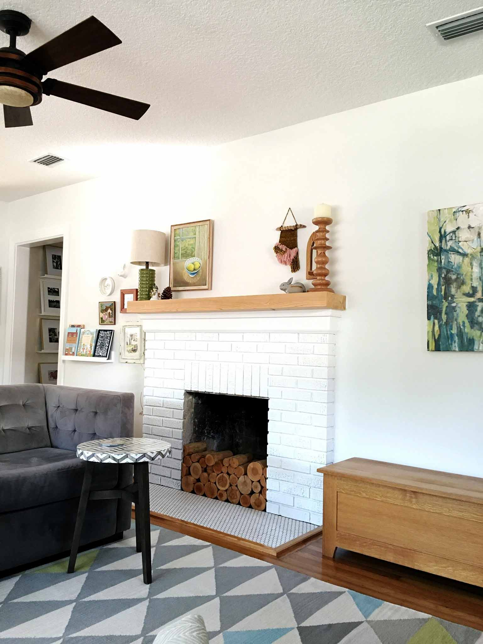 Layered and cozy living room - first phase - That Homebird Life Blog