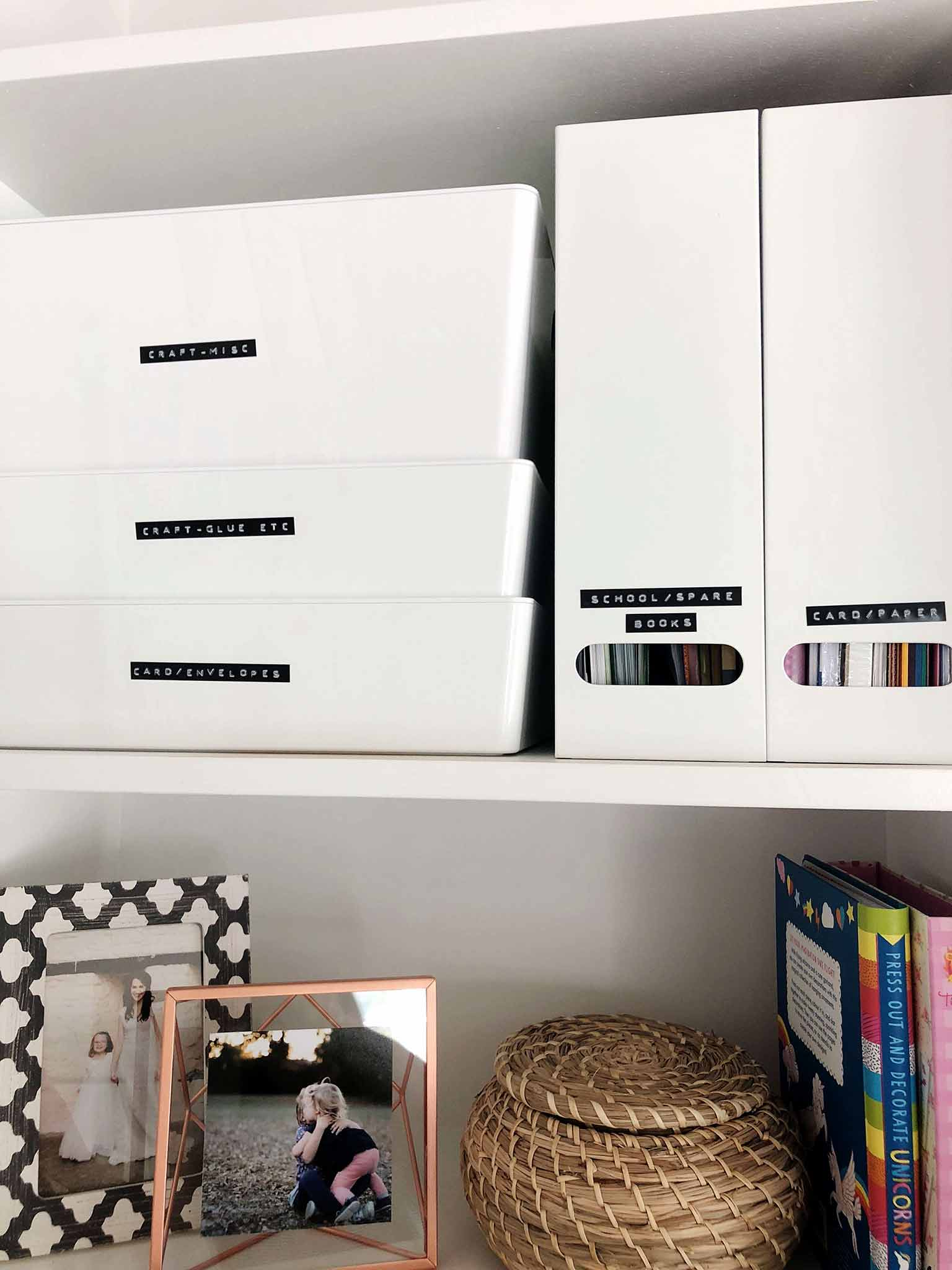 Using a label maker to organize your craft supplies - That Homebird Life Blog