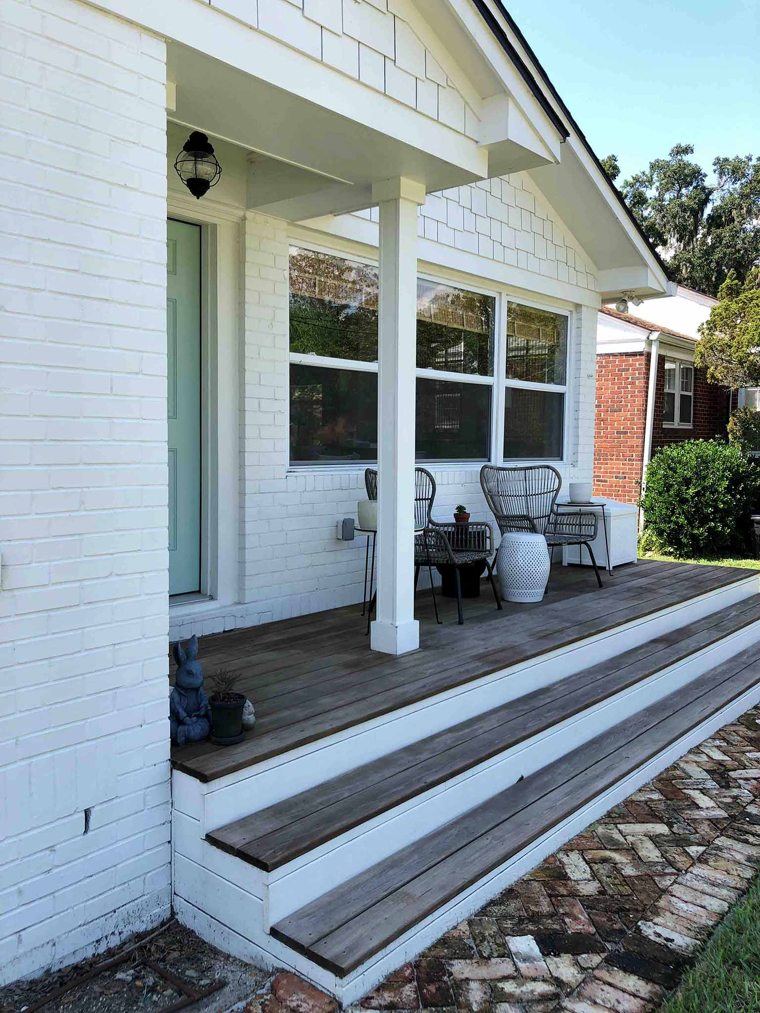 Front porch before - That Homebird Life Blog