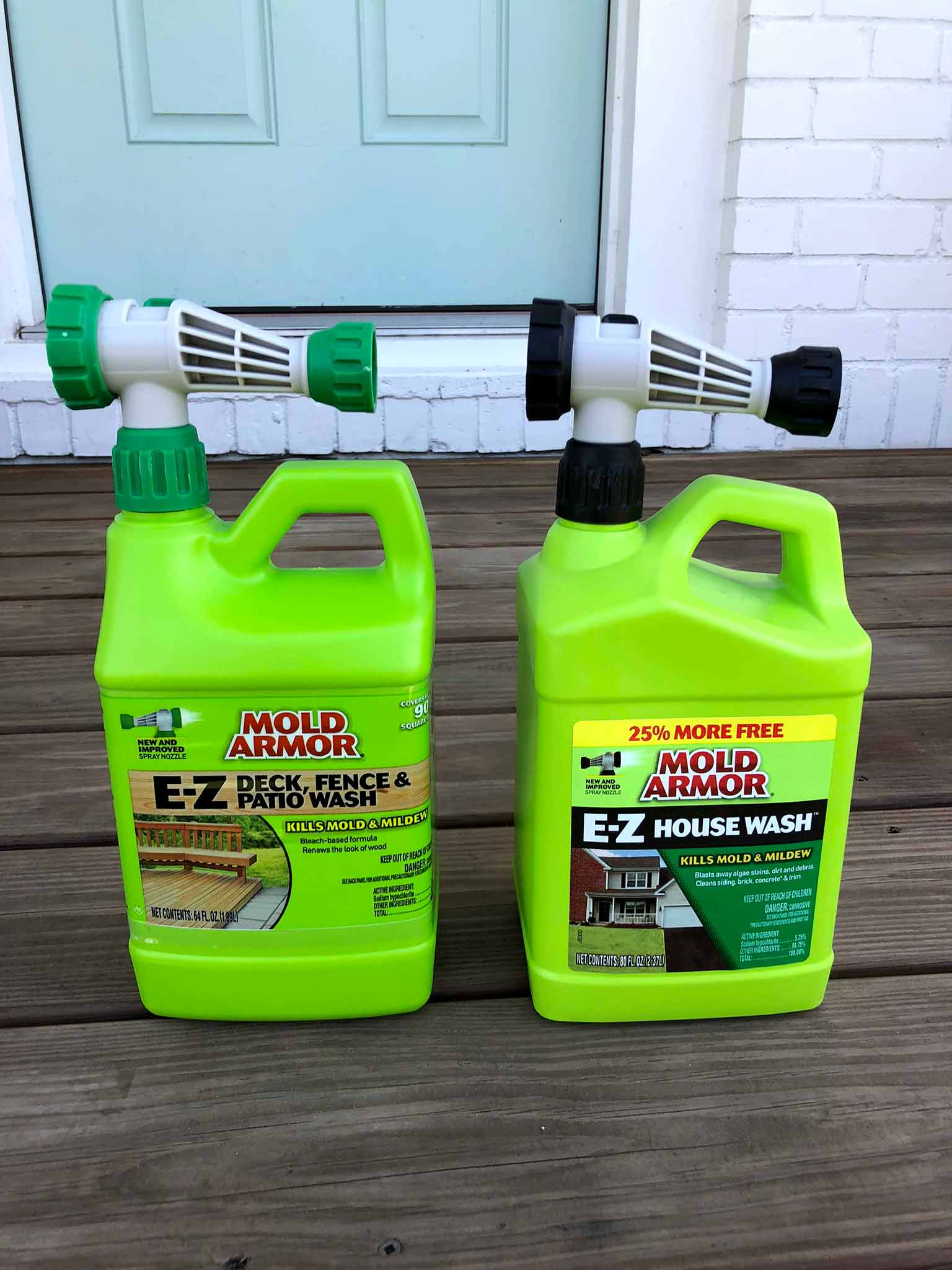 Mold armor deck and house wash - front porch fall makeover reveal - That Homebird Life Blog