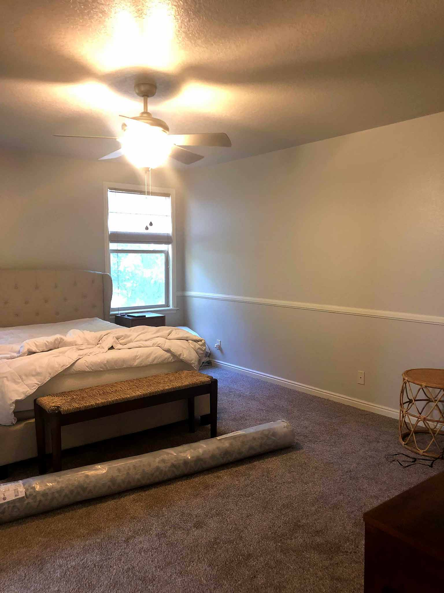 BEFORE - Mid Century Modern, Coastal, Master Bedroom Makeover - That Homebird Life Blog