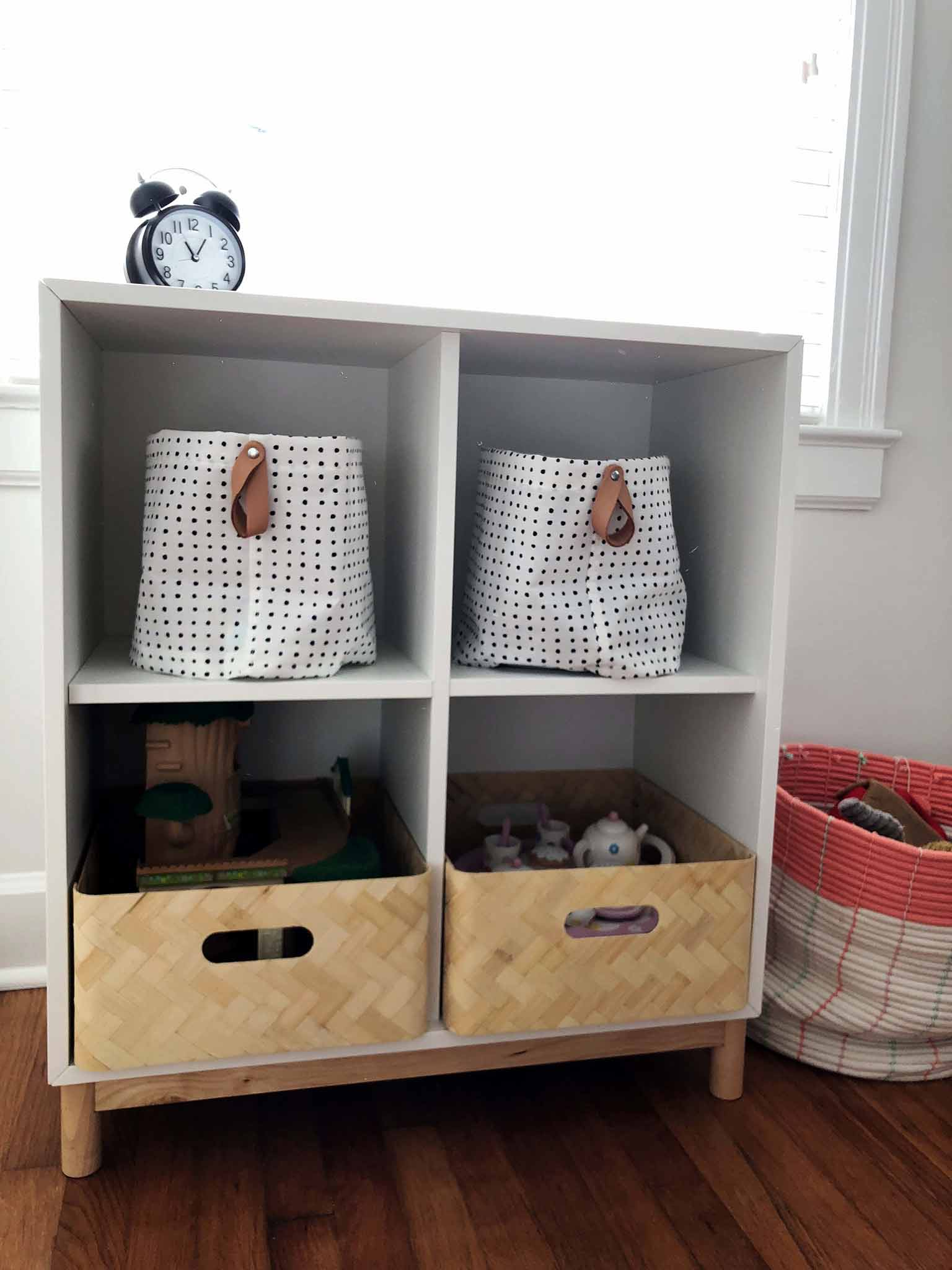 EKET Storage Cubbies - Guest Participant of the One Room Challenge - That Homebird Life Blog
