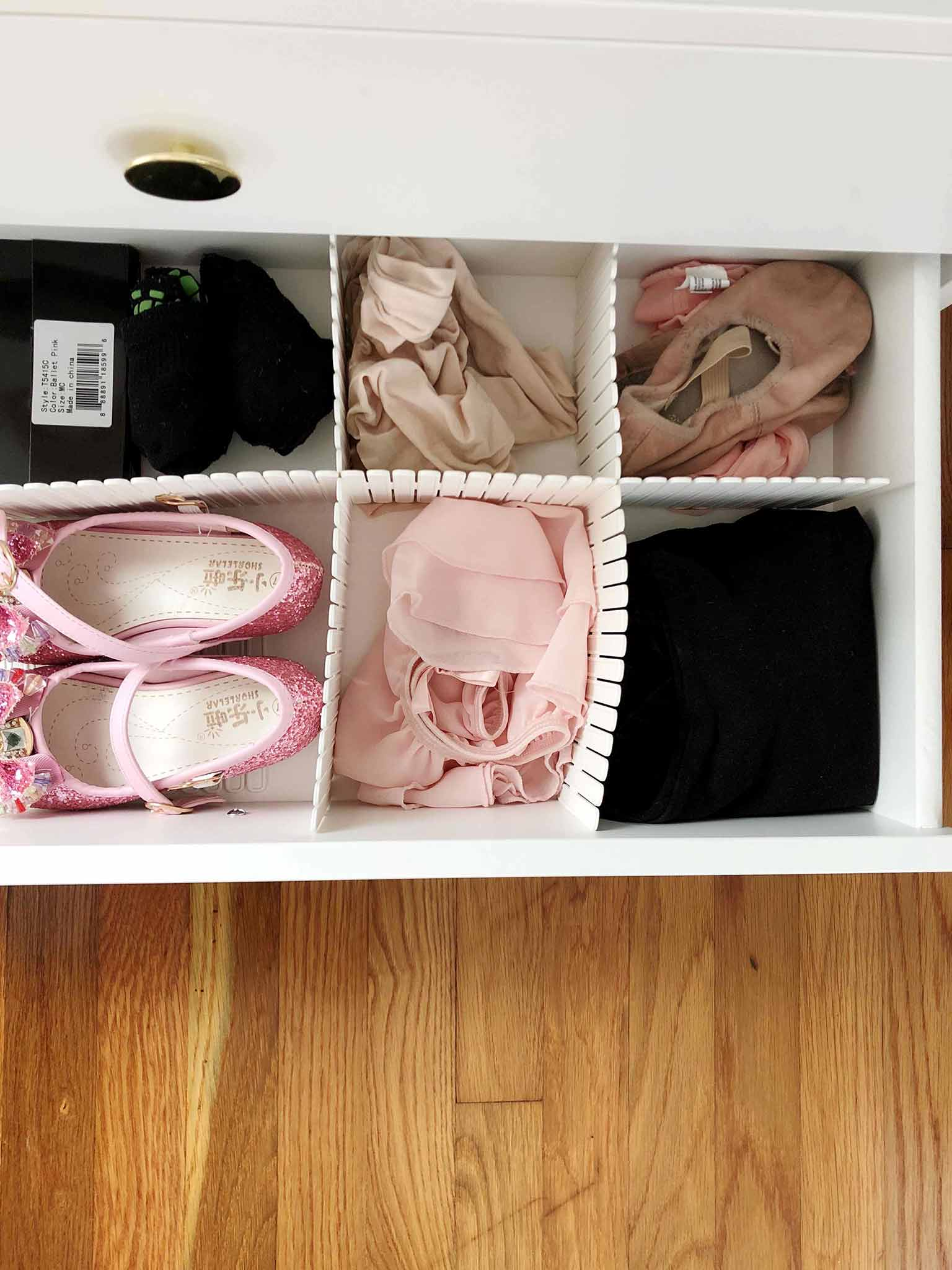 Organizing girls dresser - Guest Participant of the One Room Challenge - That Homebird Life Blog