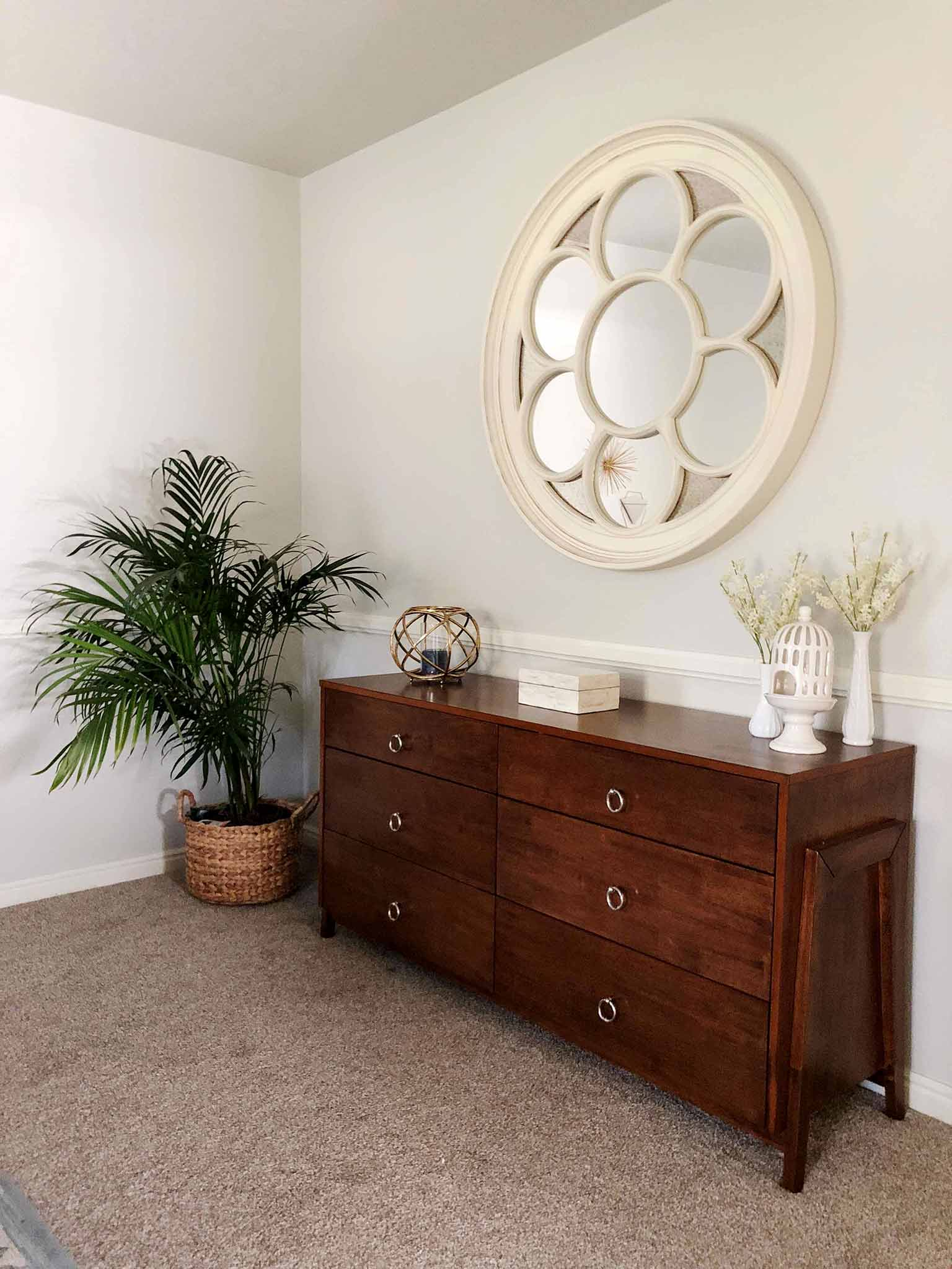 AFTER - Mid Century Modern, Coastal, Master Bedroom Makeover - That Homebird Life Blog