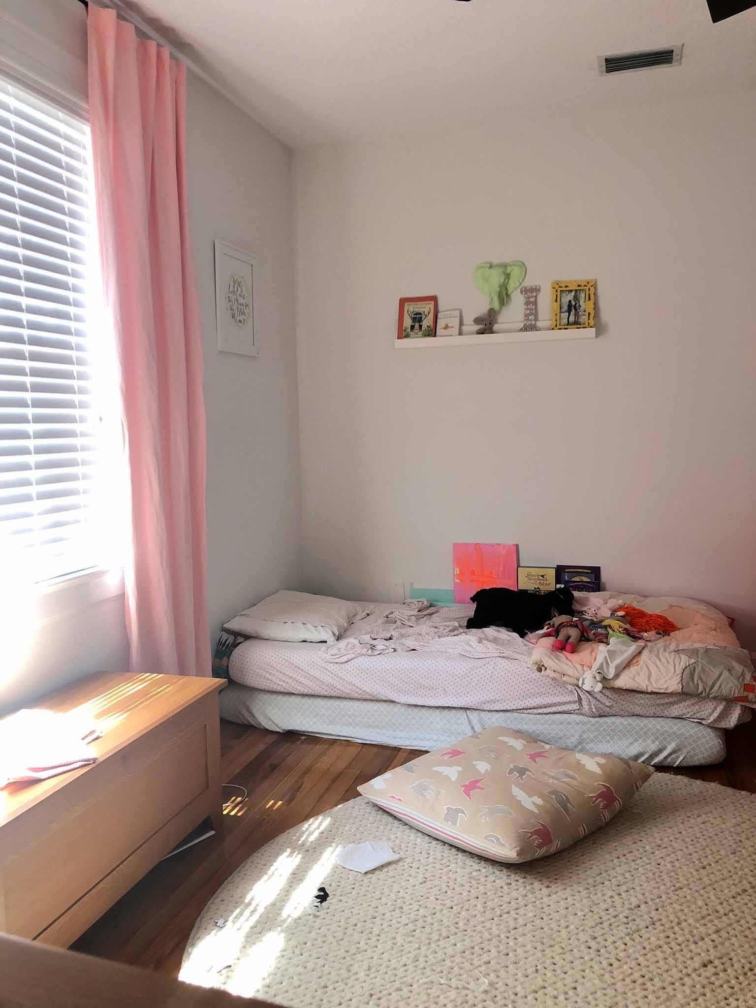 Girls' Bedroom Before - Guest Participant of the One Room Challenge - That Homebird Life Blog