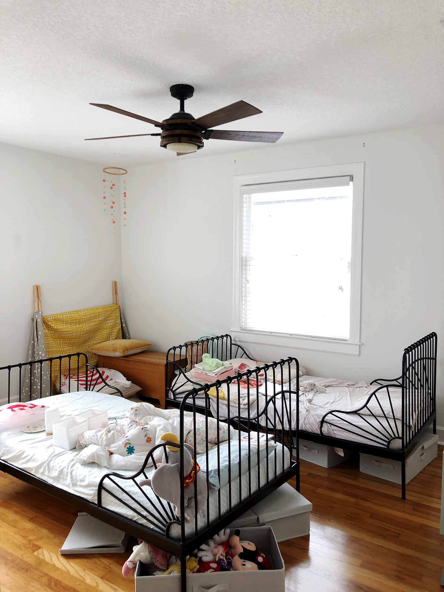Girls' Bedroom Progress - Guest Participant of the One Room Challenge - That Homebird Life Blog