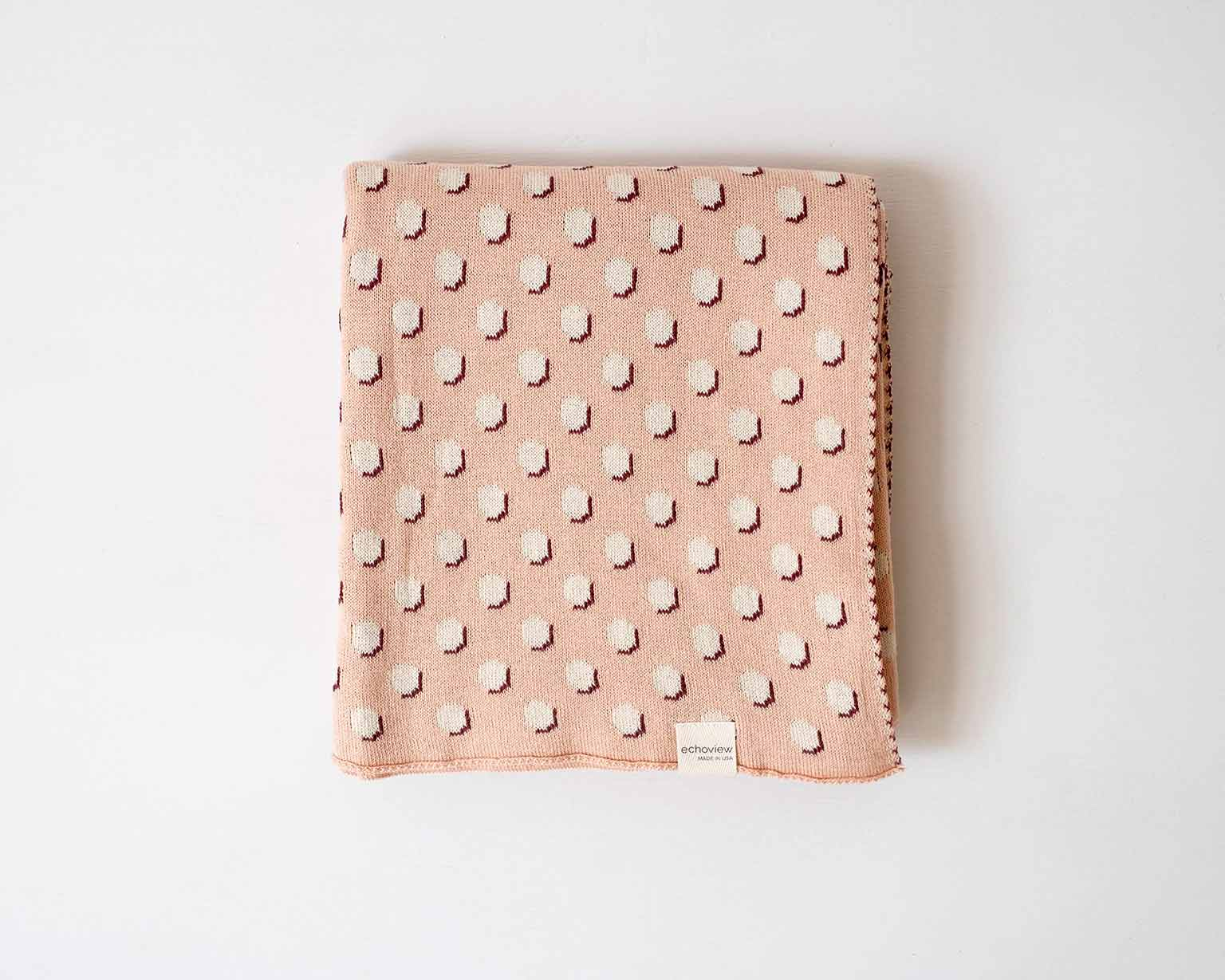 Polka Dot Knit Baby Blanket - Ethical, Sustainable Holiday Gift Guide - That Homebird Life Blog