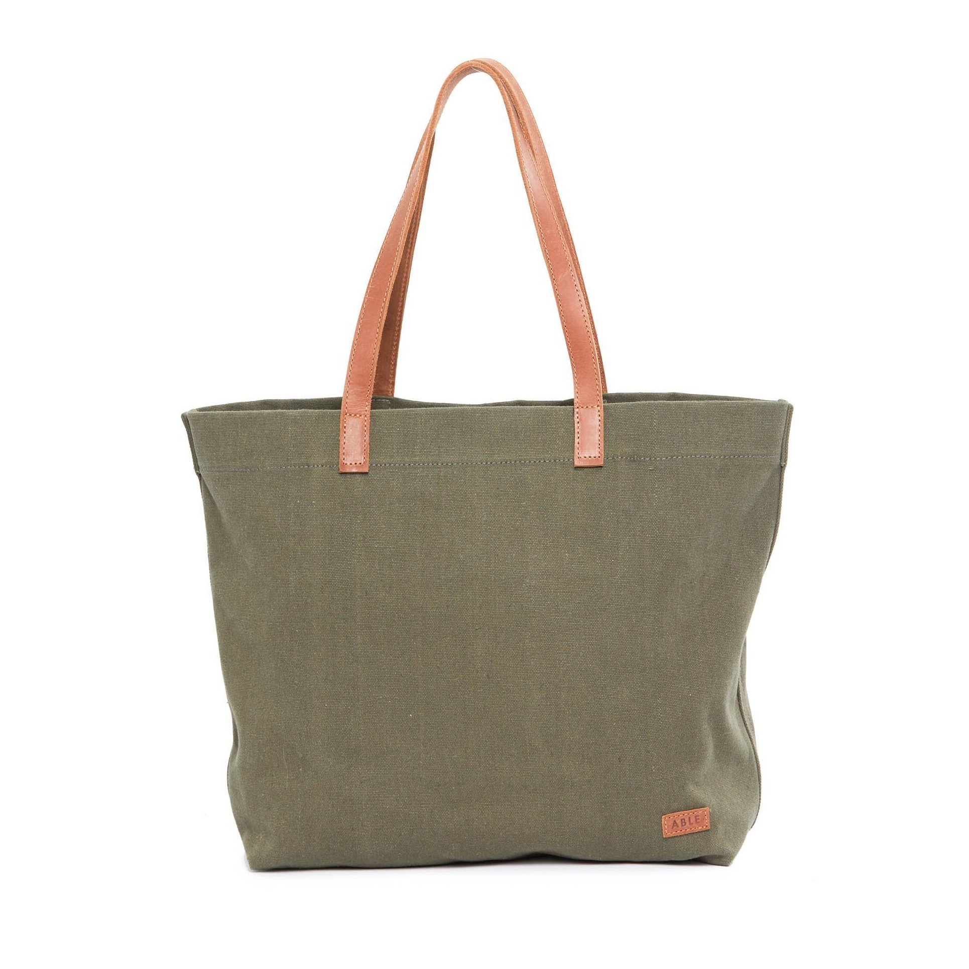 Canvas and leather tote - Ethical, Sustainable Holiday Gift Guide - That Homebird Life Blog