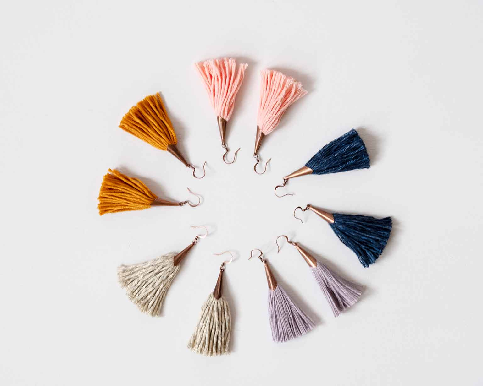 Yarn Earrings - Ethical, Sustainable Holiday Gift Guide - That Homebird Life Blog