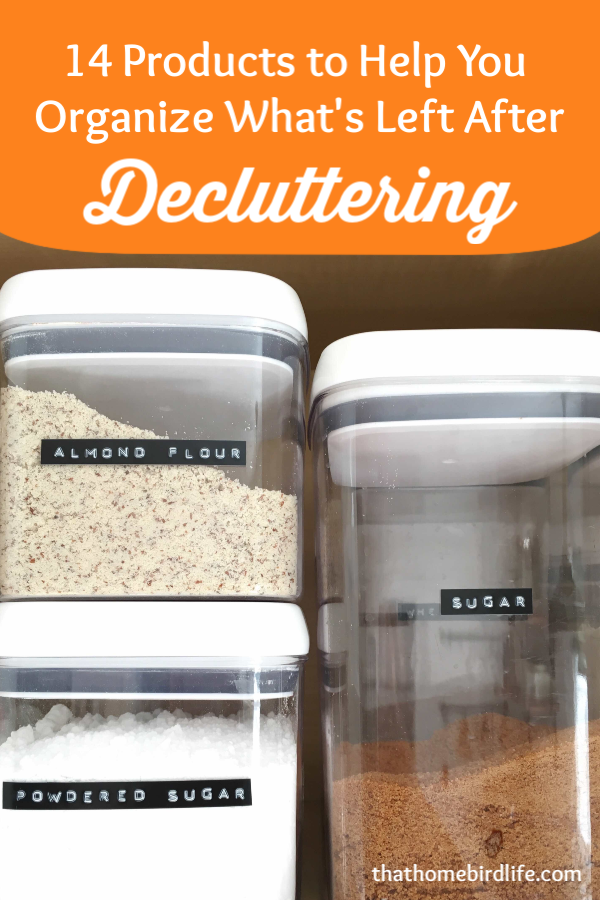 14 of My Favorite Products to Help You Organize What's Left After Decluttering | That Homebird Life Blog | #declutter #organization #organizationtips