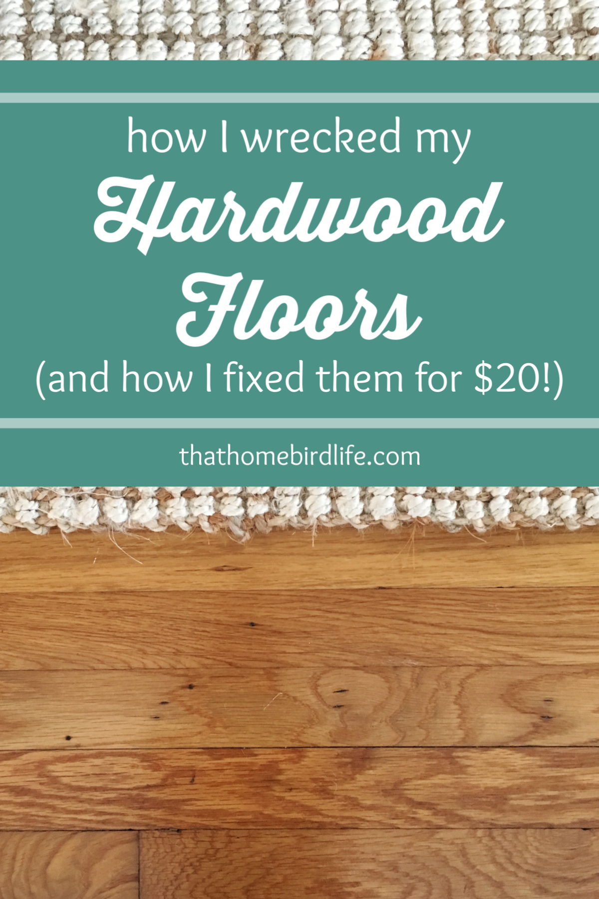 How I wrecked my hardwood floors and fixed them ...