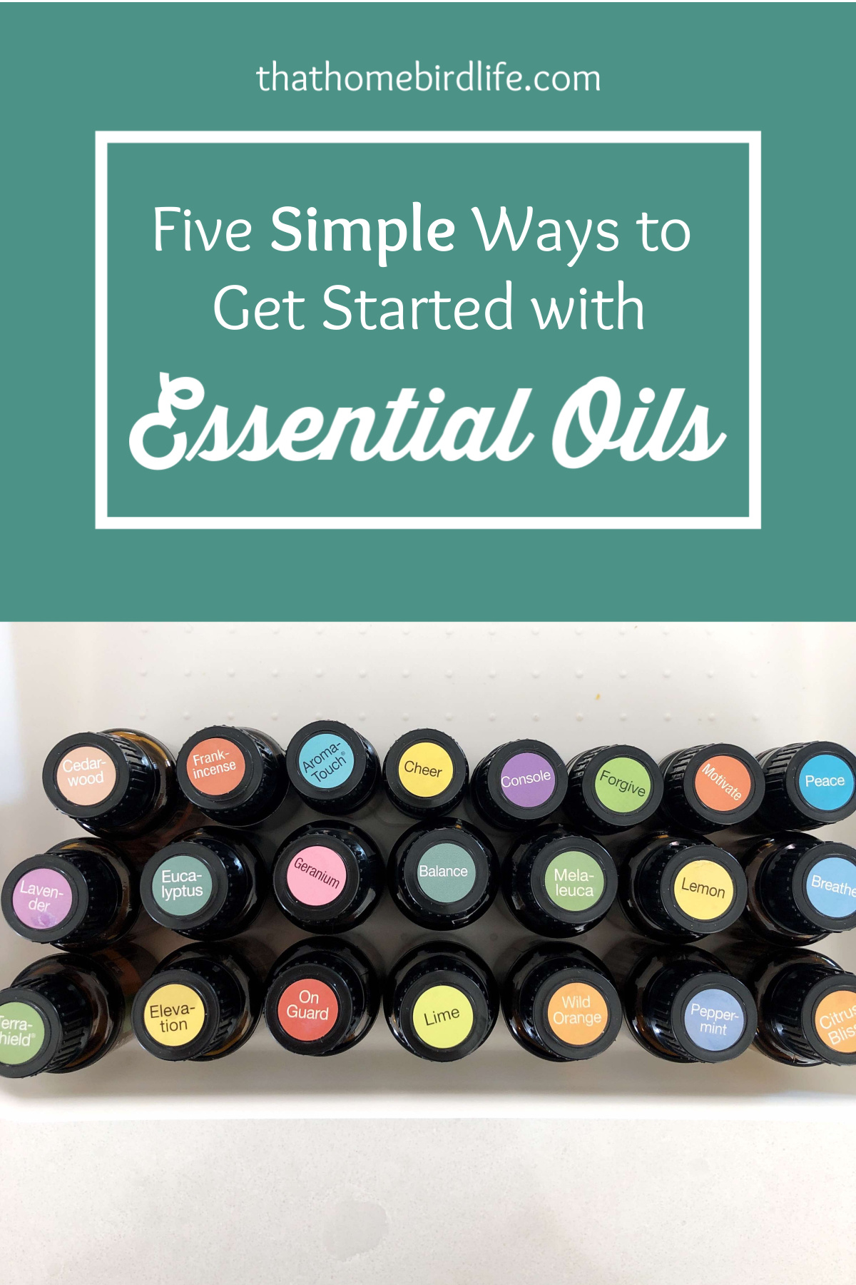 Beginner's Guide to Essential Oils | Five Simple Ways to Get Started with Essential Oils | That Homebird Life Blog | #essentialoils #essentialoilsforbeginners #doterra