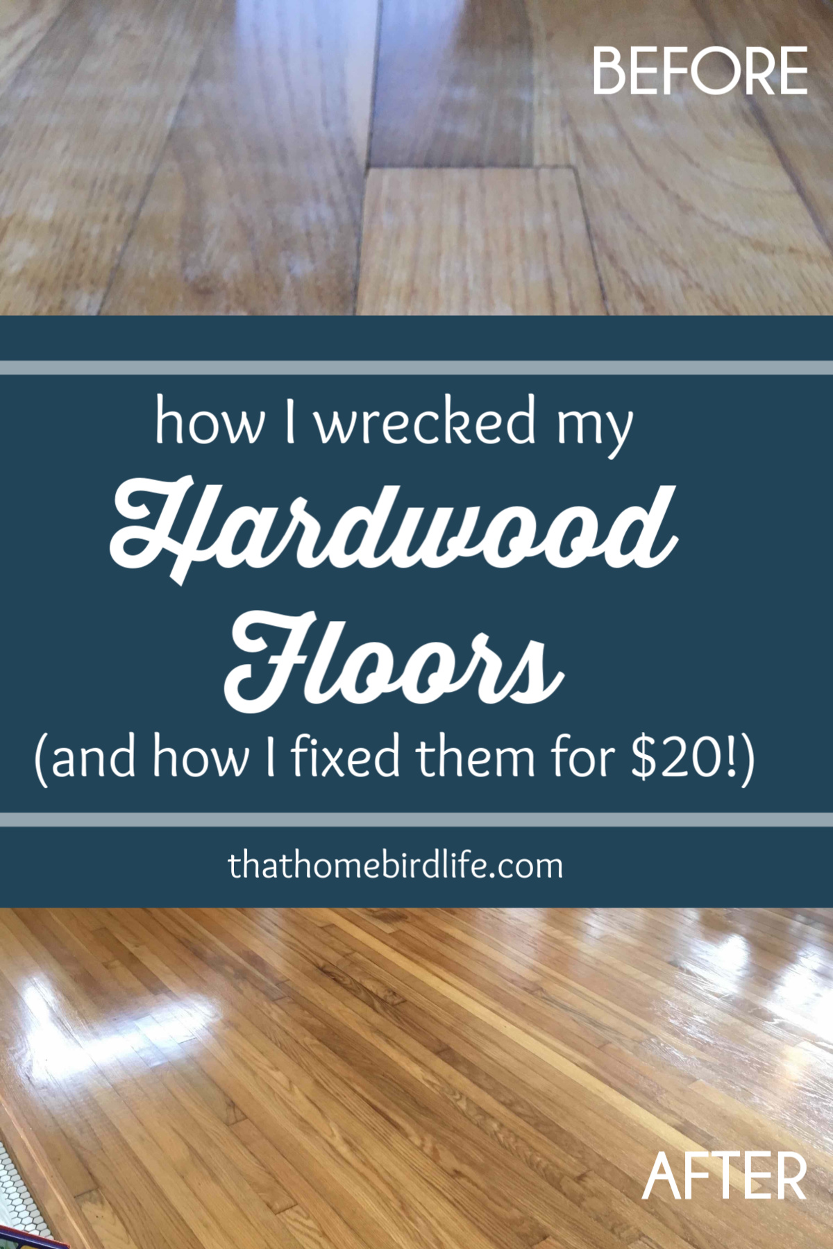... How I wrecked my hardwood floors and fixed them ...