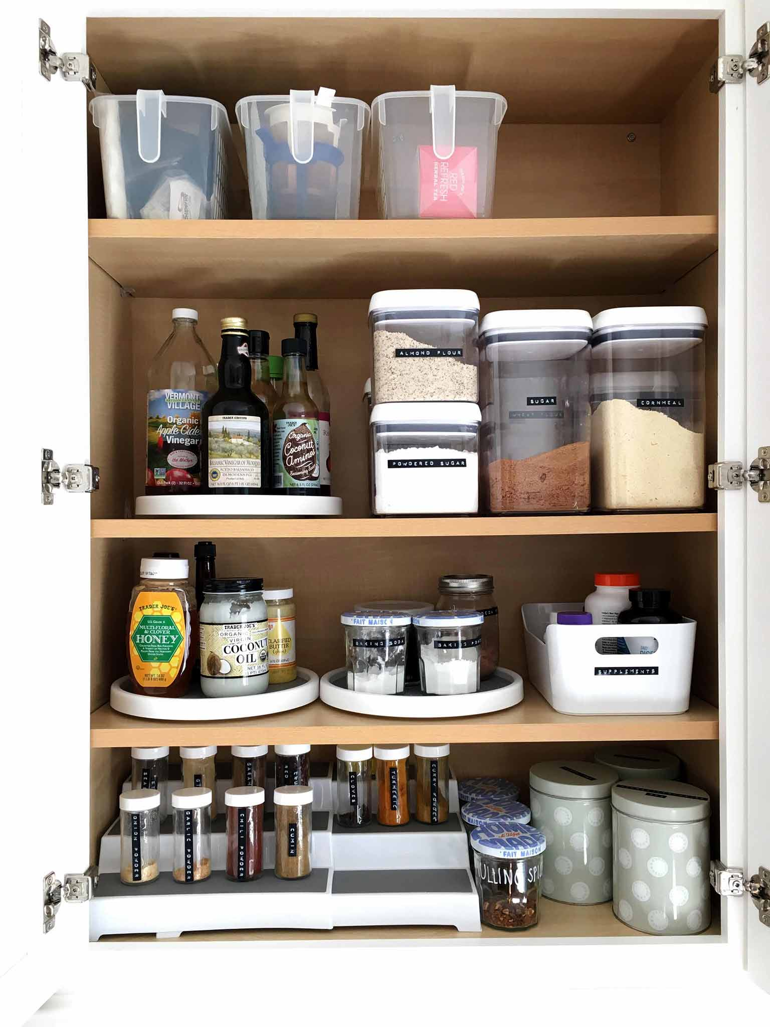 Small Cupboard Organisation