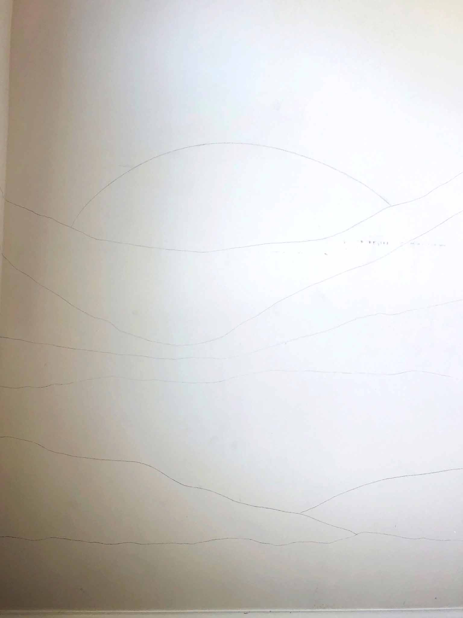 pencil sketch of wall mural