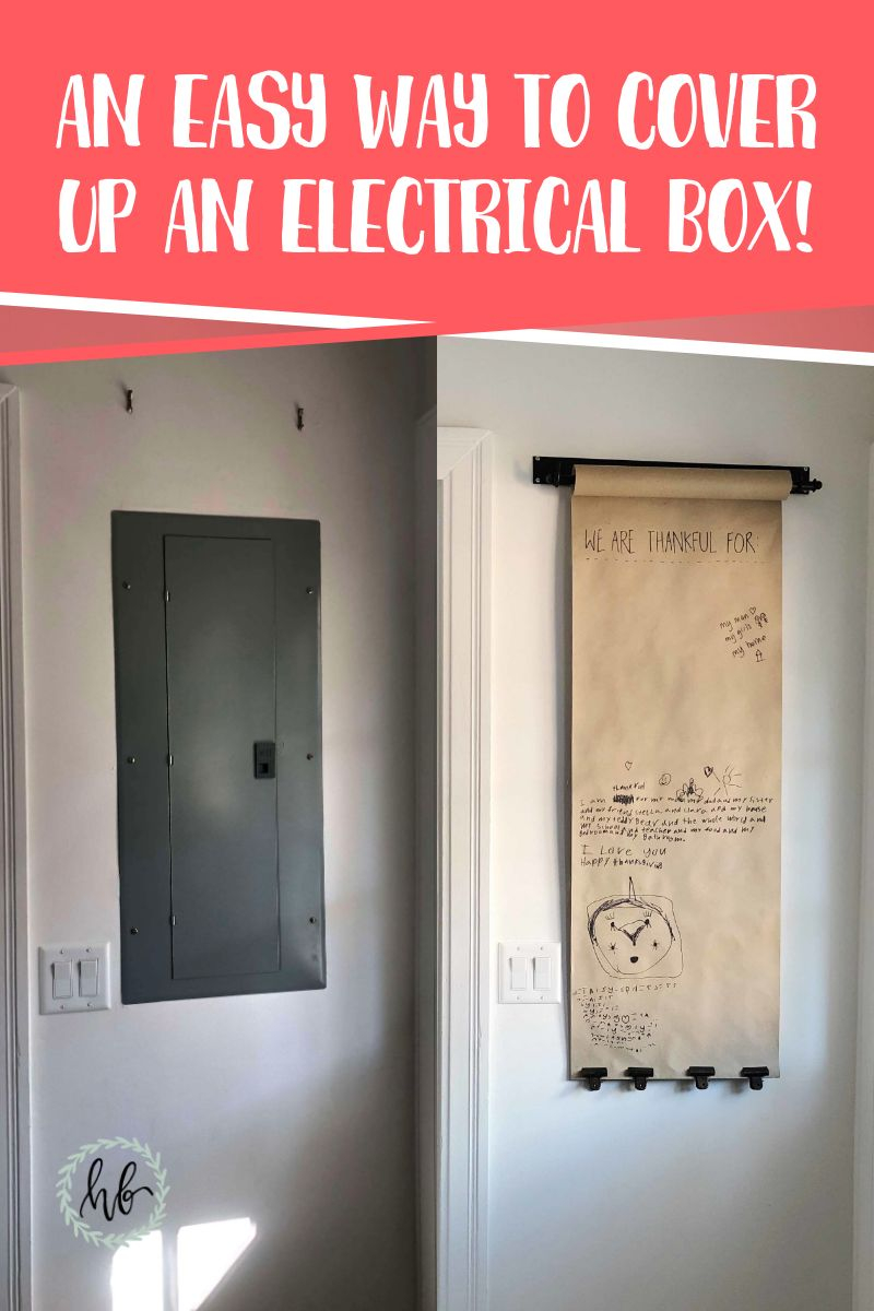 an easy way to cover up an electrical box
