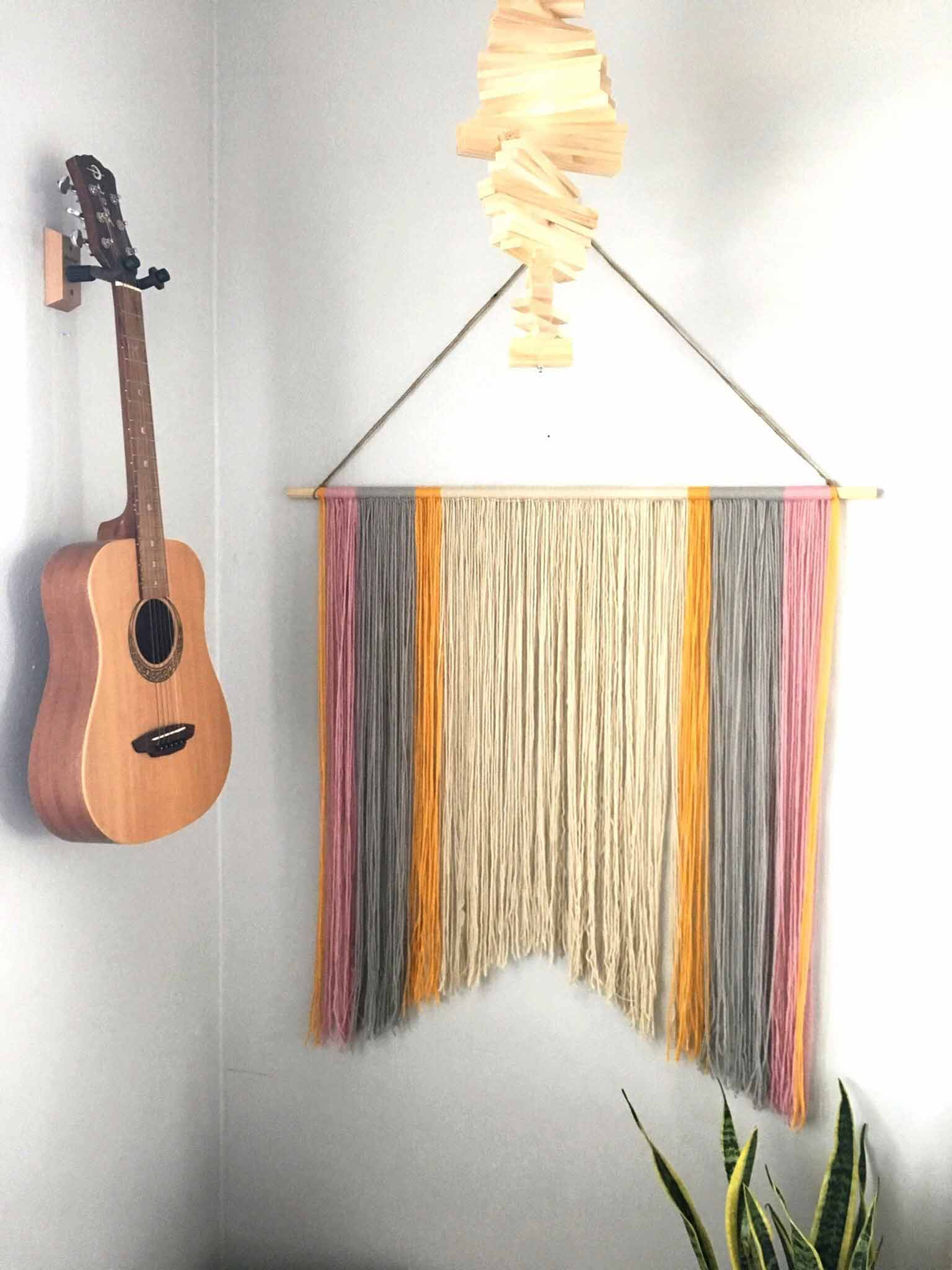 finished Yarn Wall Hanging