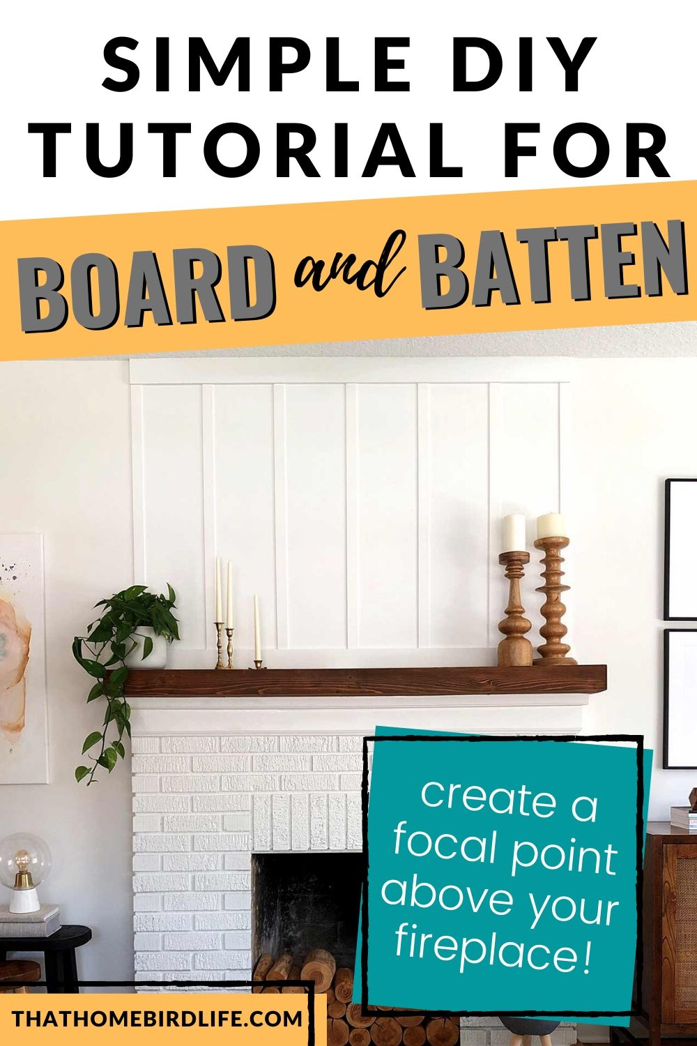 How to Install Board and Batten Above a Fireplace
